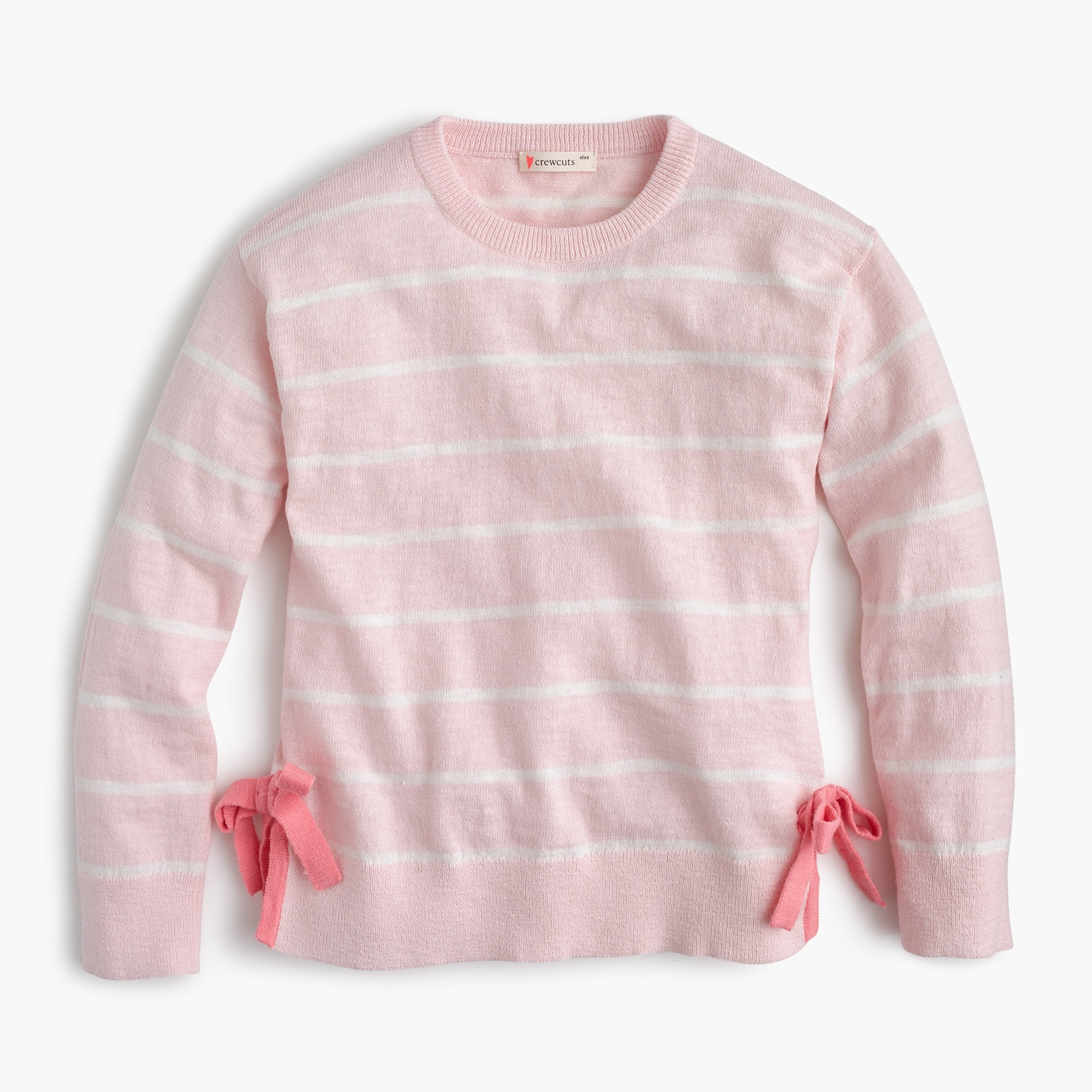 Girls' striped popover sweater with bows girl new arrivals c