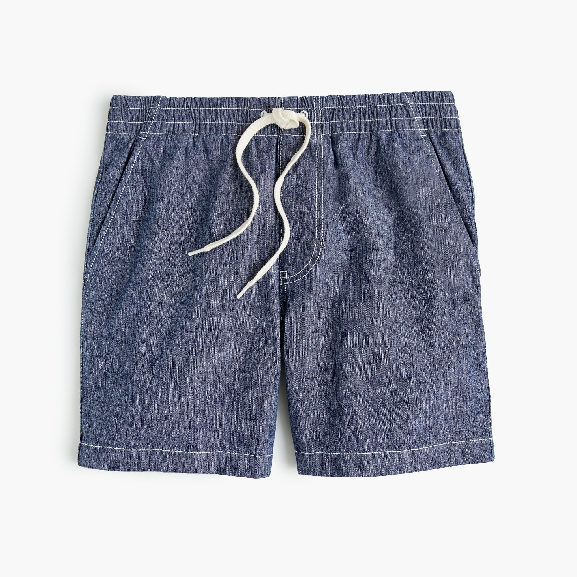 Image 4 for Stretch dock short in chambray