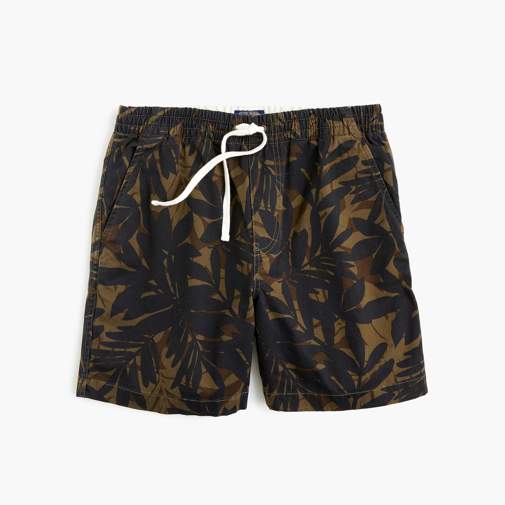 men's stretch dock short in cotton camo - men's shorts