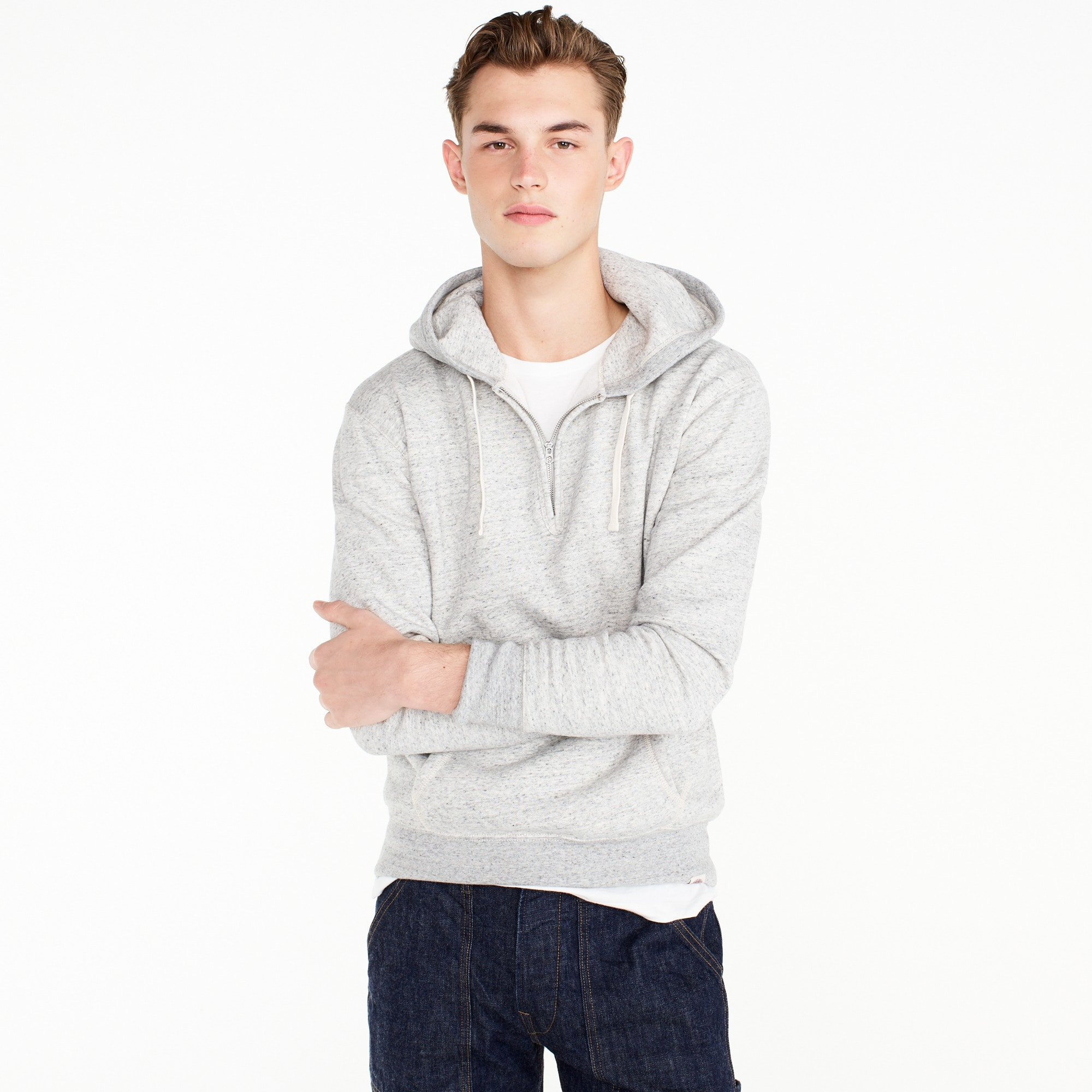 Image 1 for Wallace & Barnes fleece half-zip hoodie