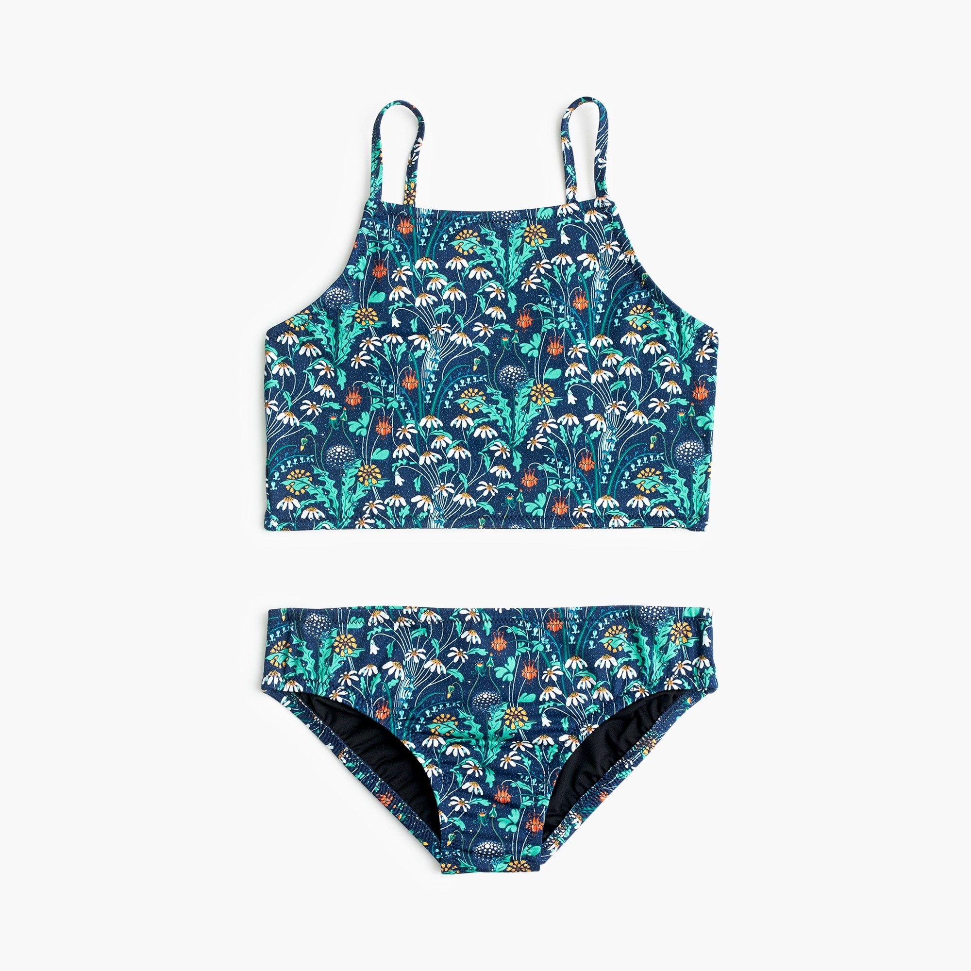 Girls' cropped tankini set in Liberty® floral