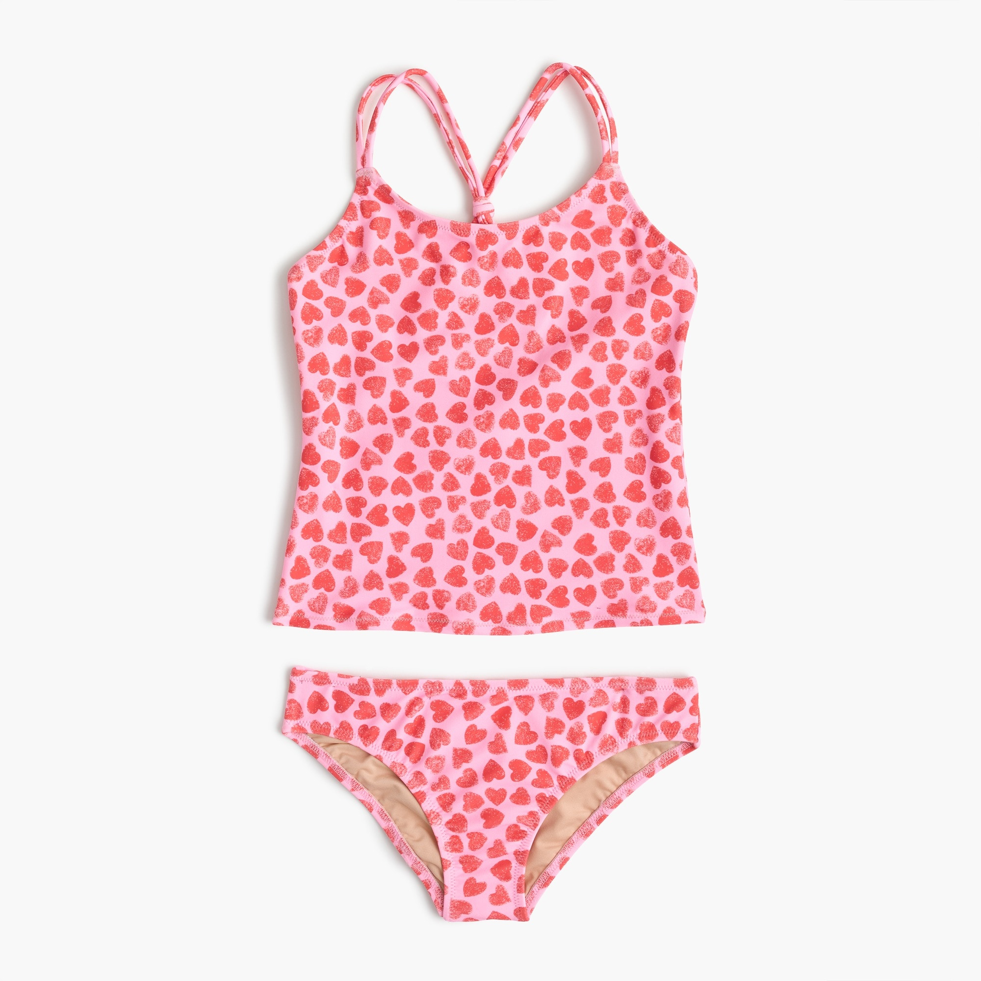 Girls' tankini set in hearts