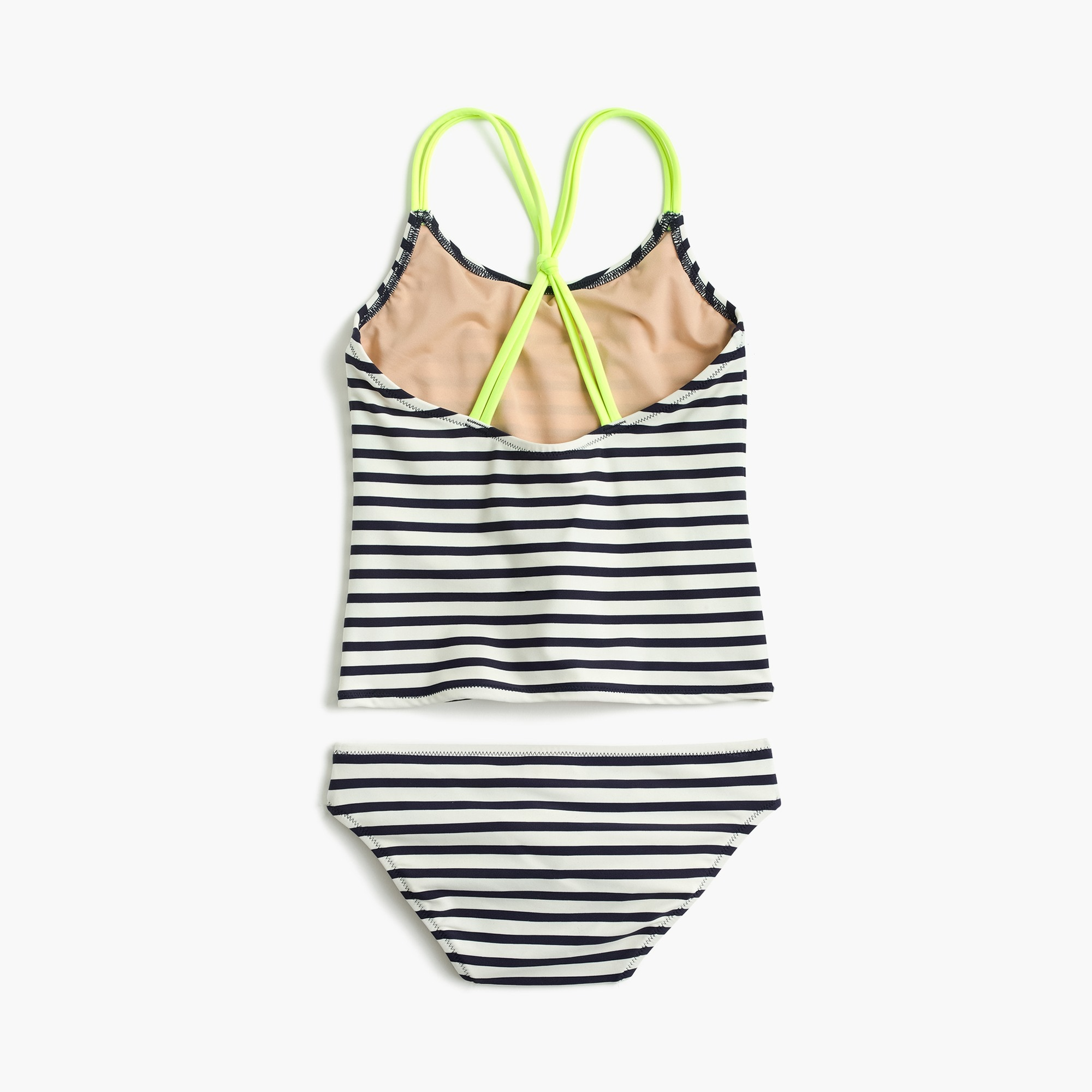 girls' tankini set in stripes - girls' swimwear