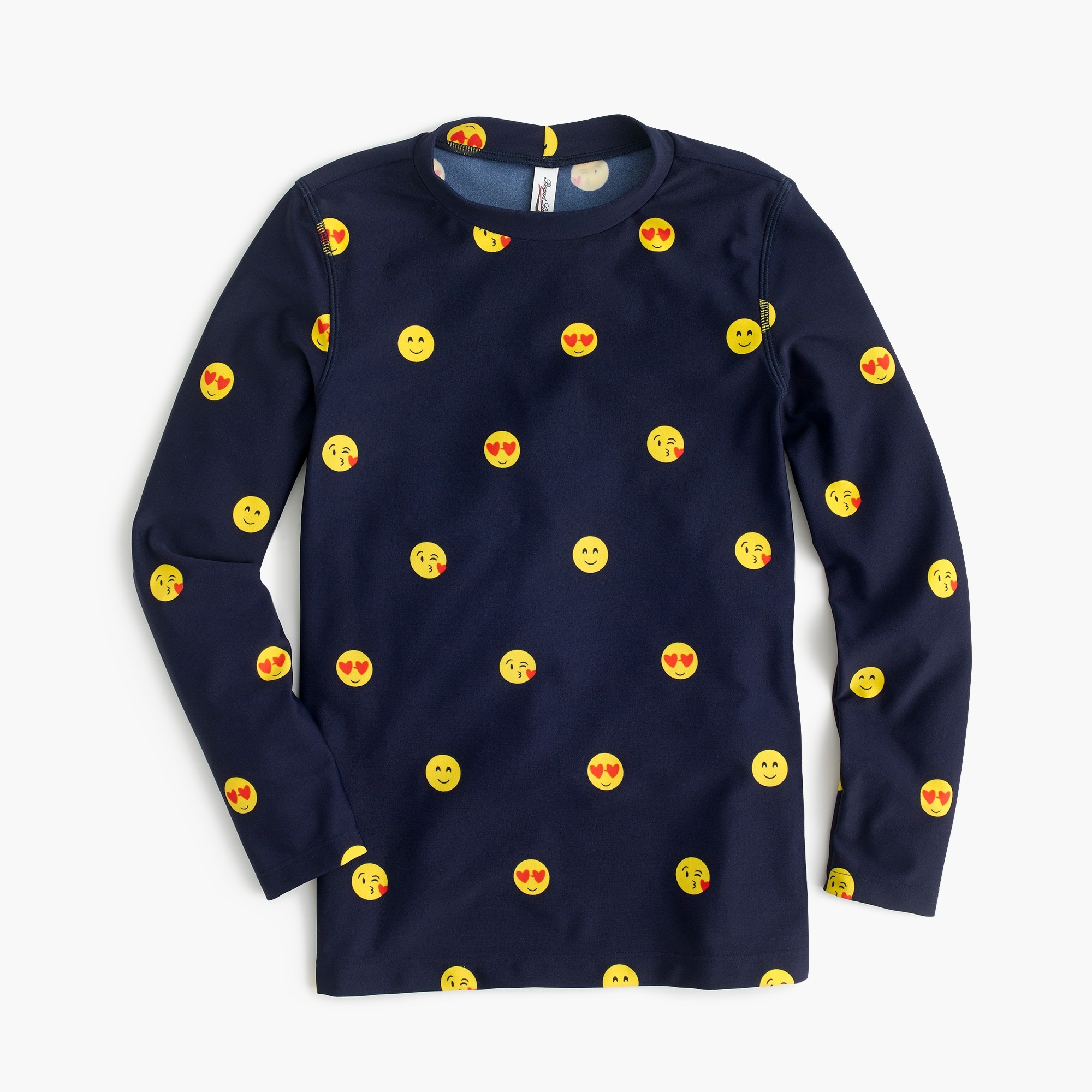 girls Girls' rash guard in emojis