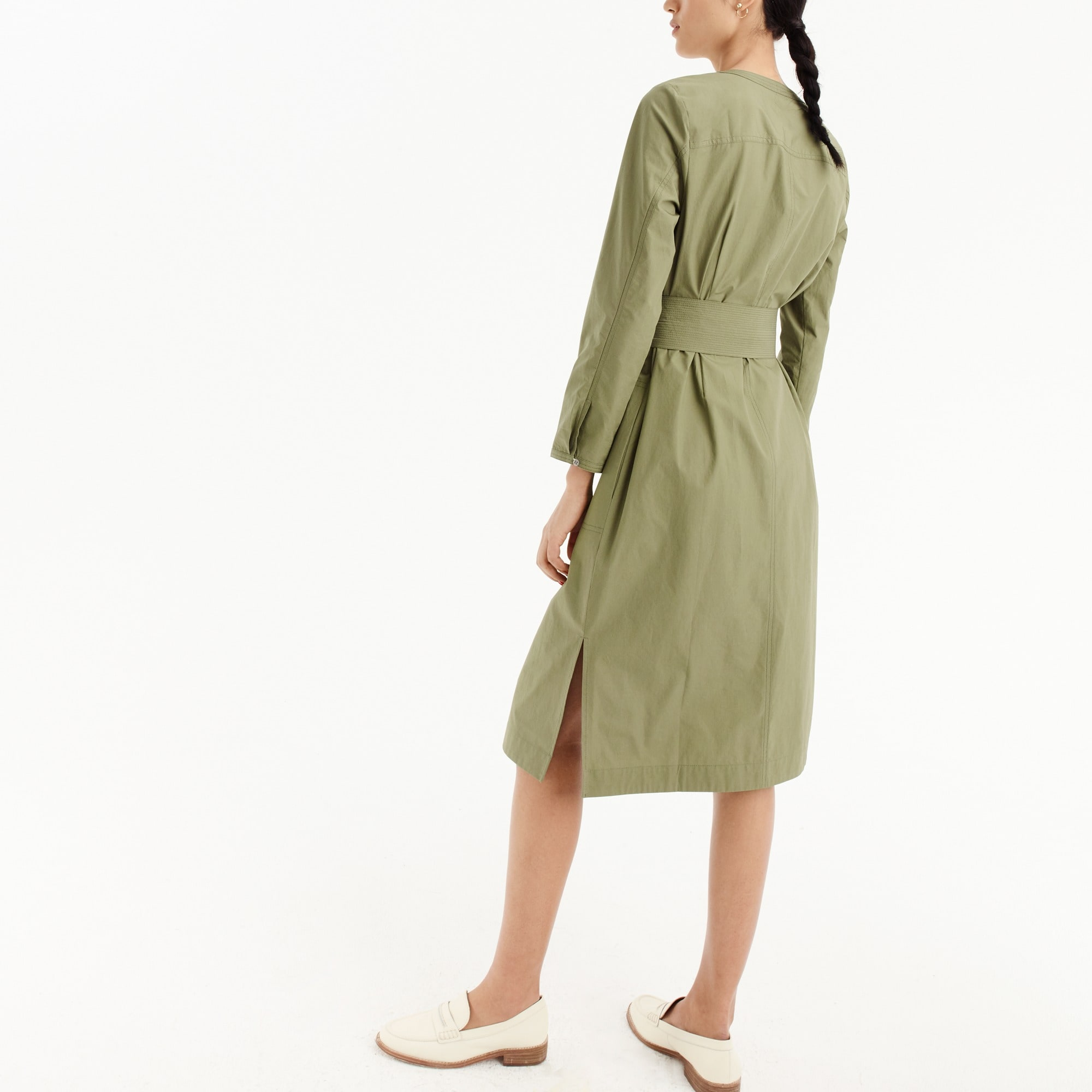 Petite long-sleeve shirtdress
