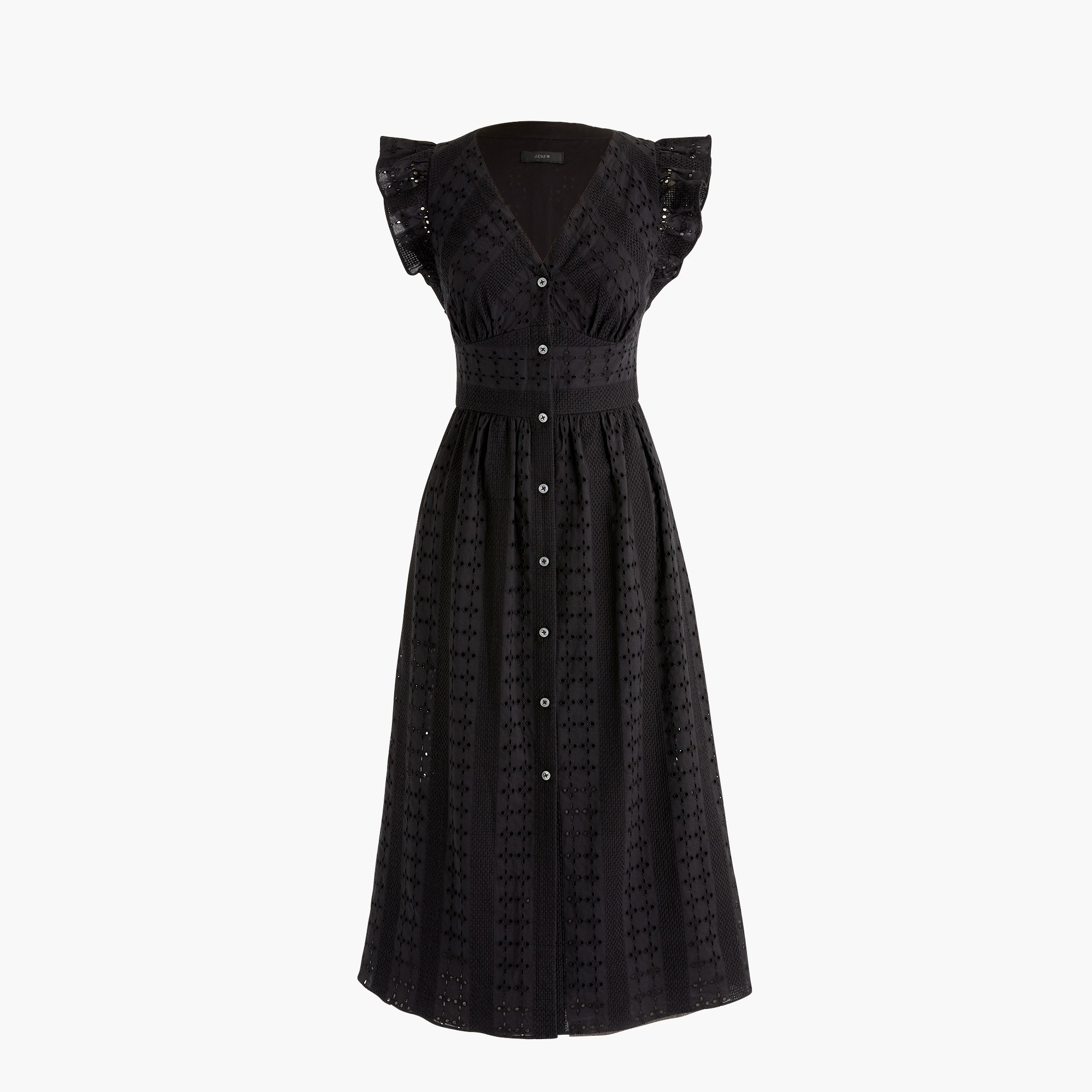Image 4 for Ruffle-sleeve eyelet dress