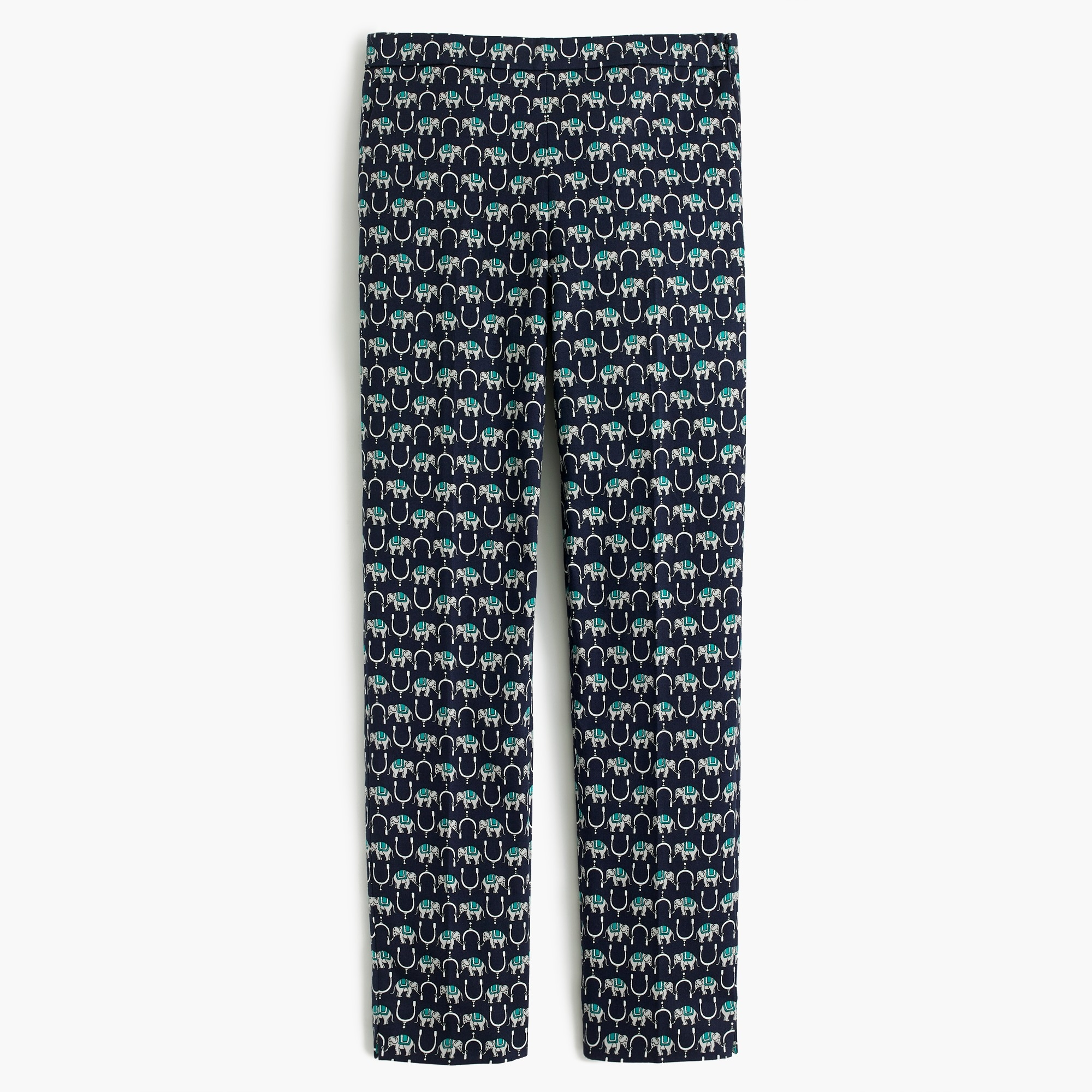 Image 4 for Martie slim crop pant in elephant two-way stretch cotton