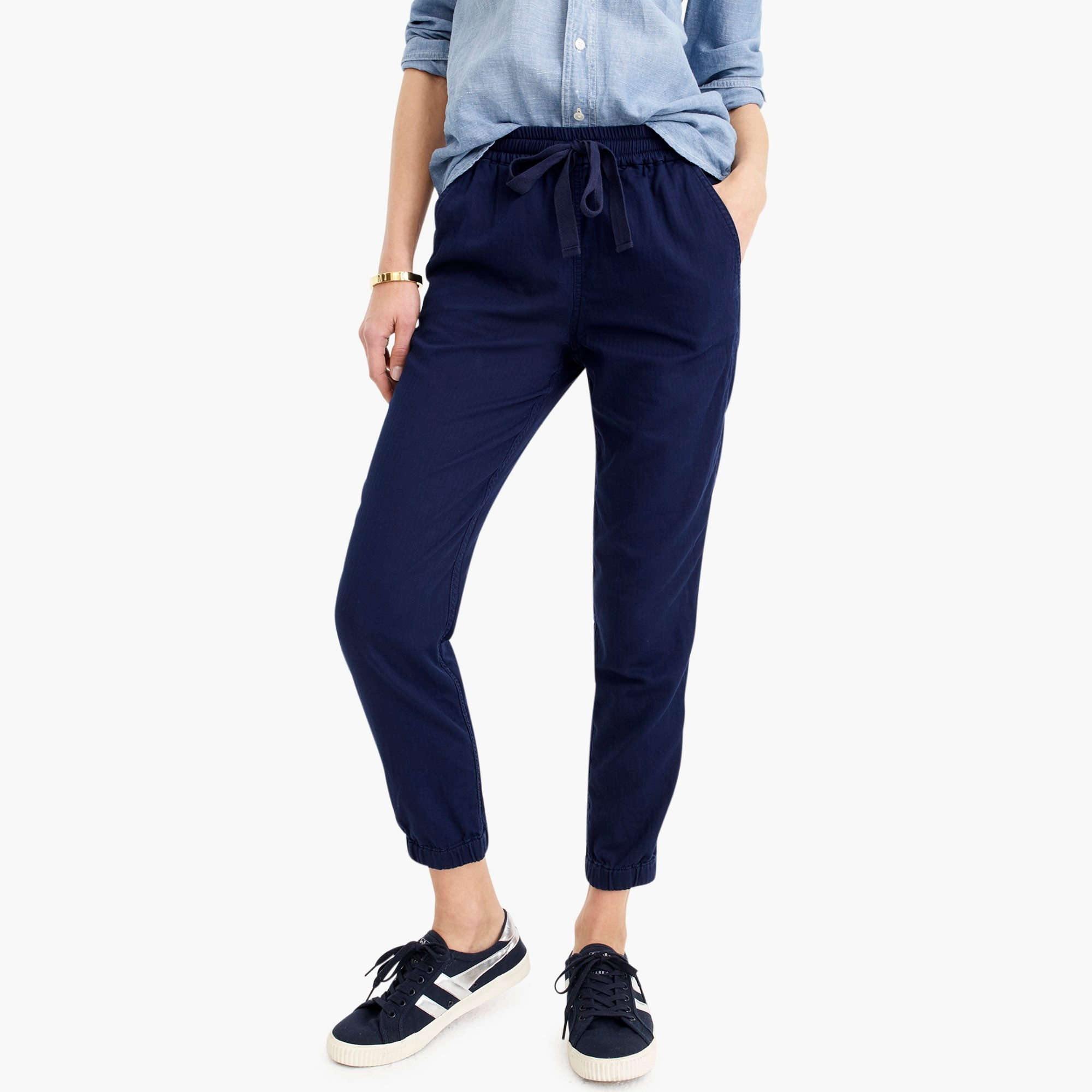Petite Point Sur seaside pant in cotton twill women petite c