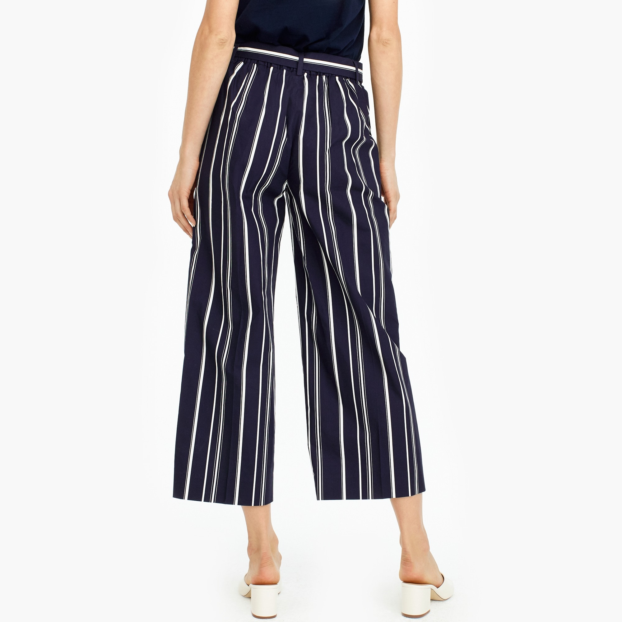 Tall wide-leg cropped pant in stripe