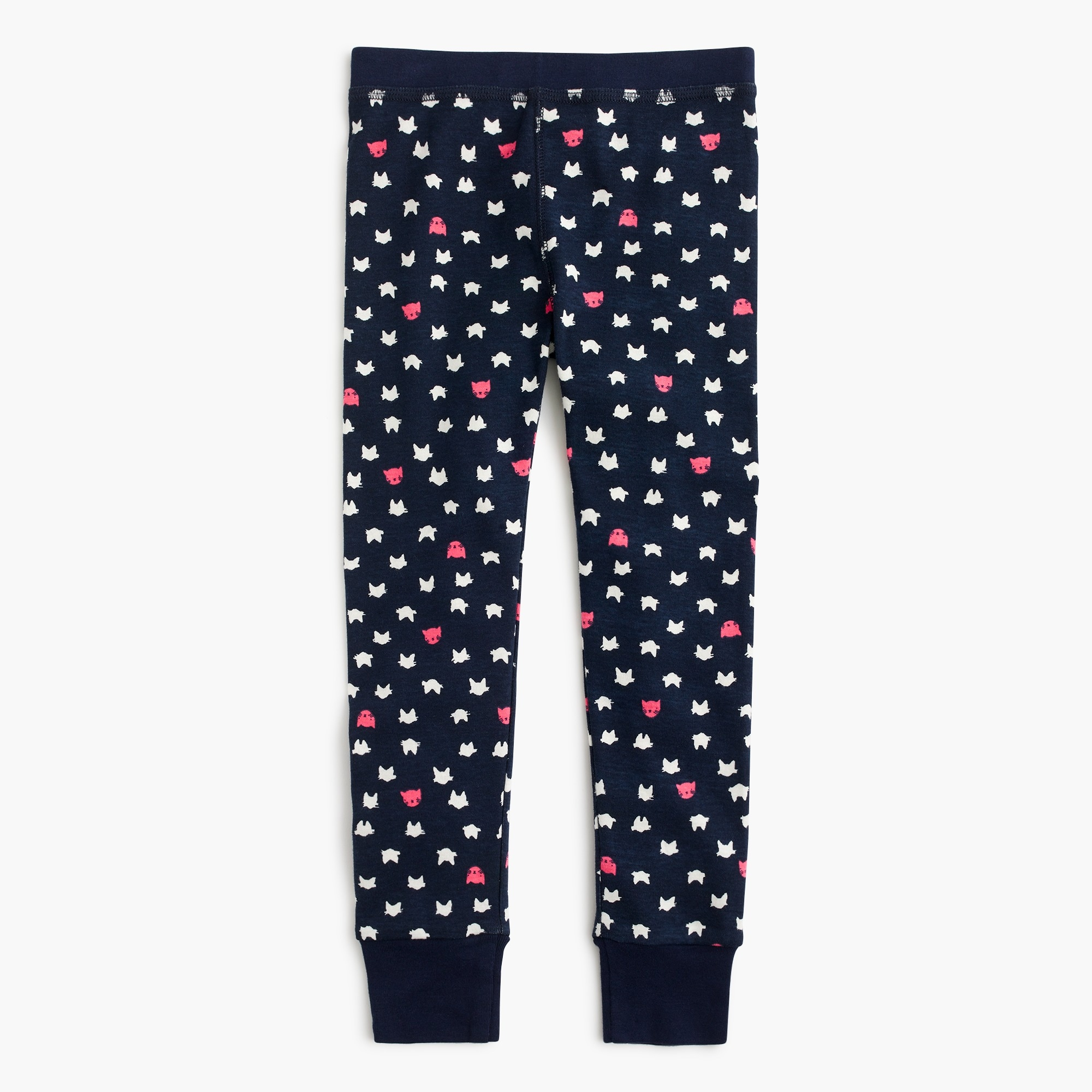 Girls' pajama set in cat print