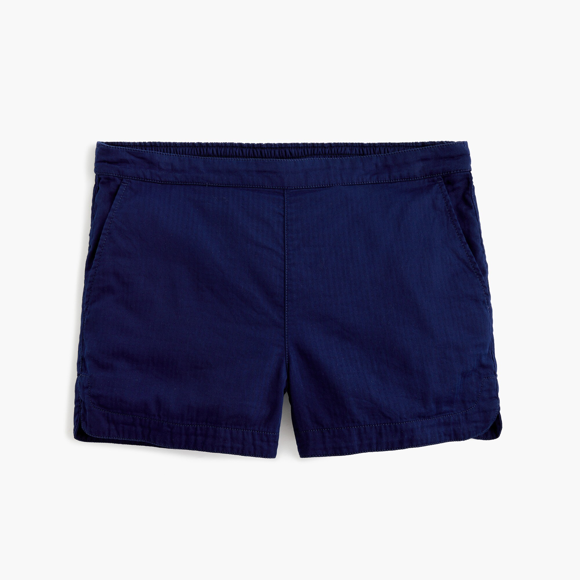 women's pull-on short in cotton twill - women's shorts