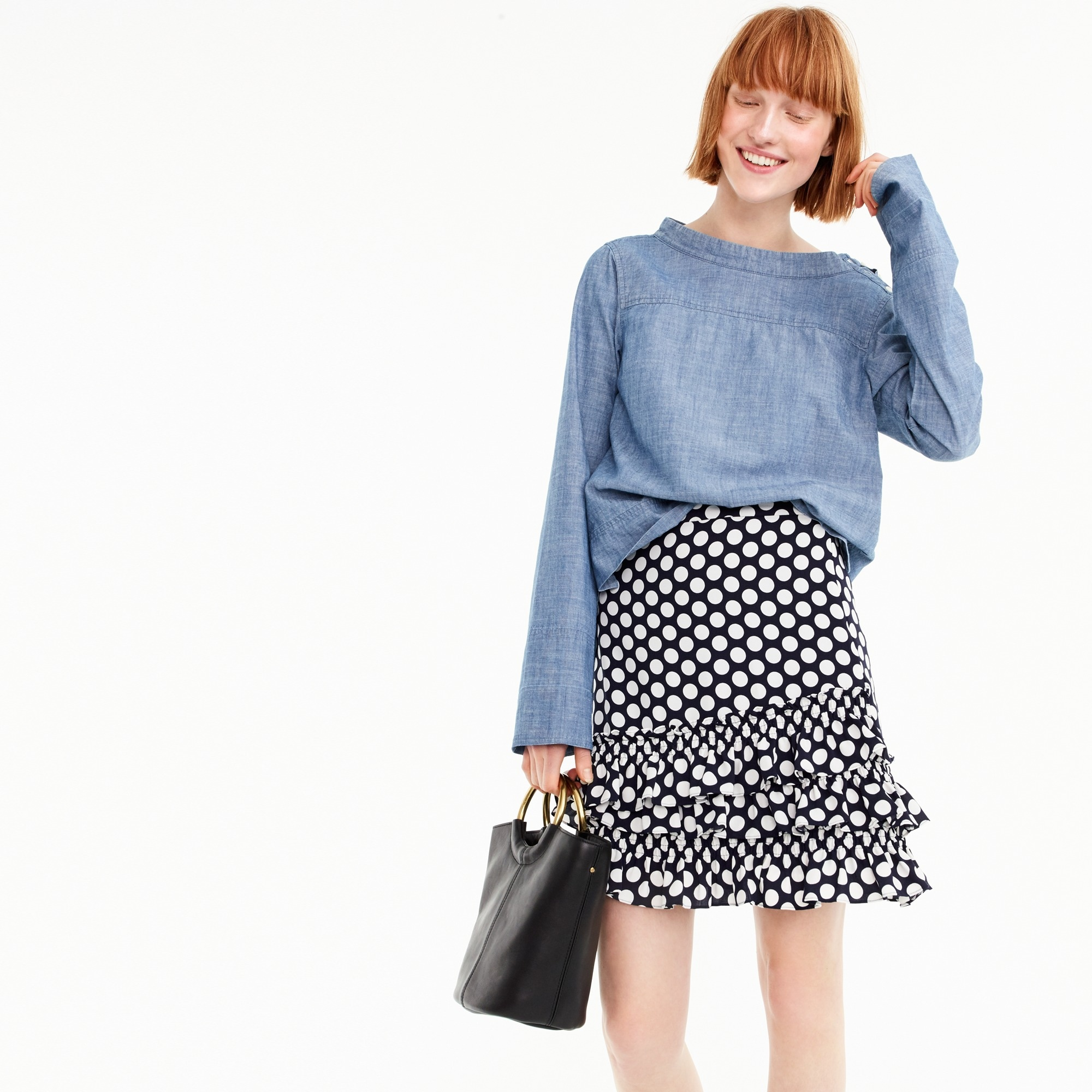 Image 1 for Tall ruffle skirt in dot