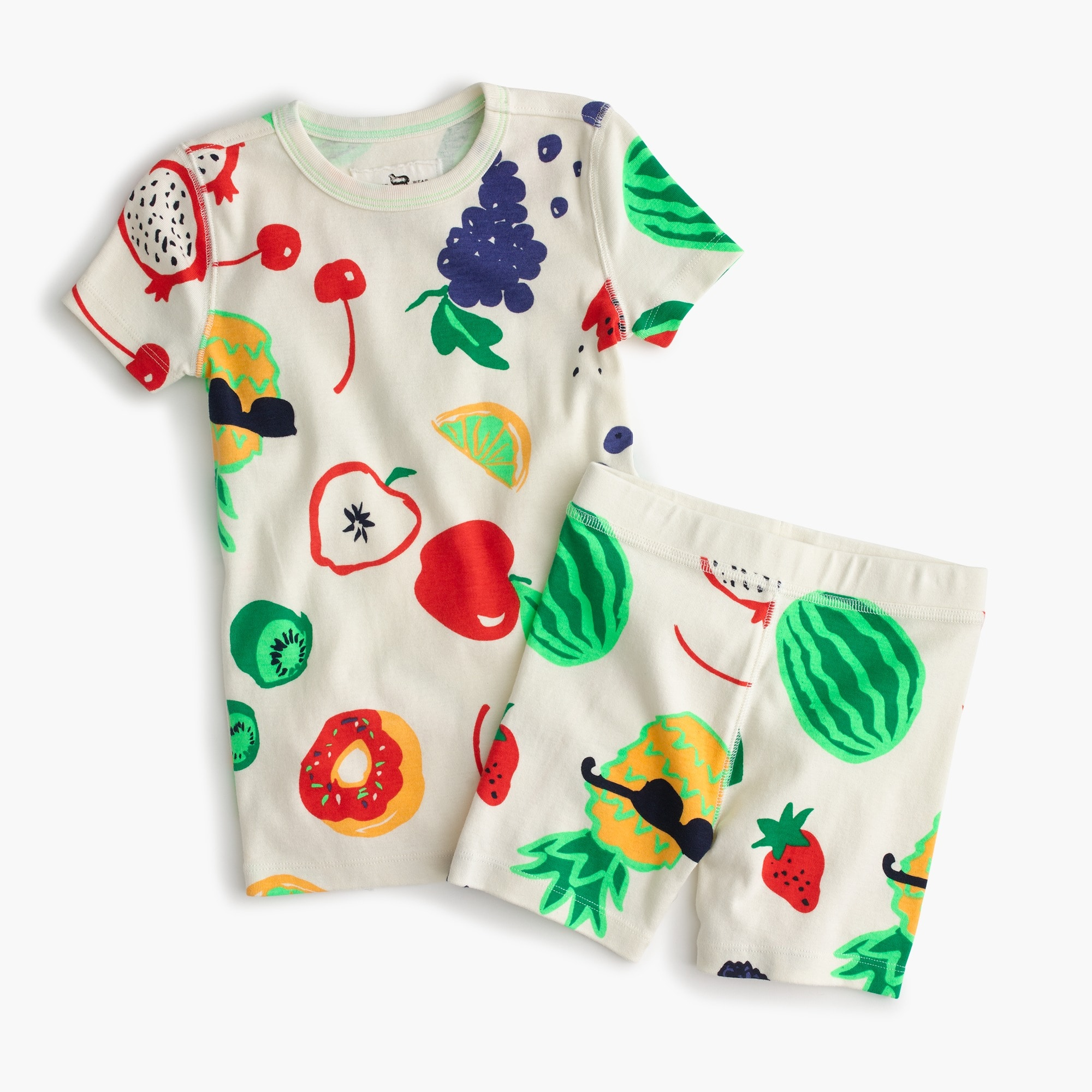 Girls' short-sleeve pajama set in fruits girl new arrivals c
