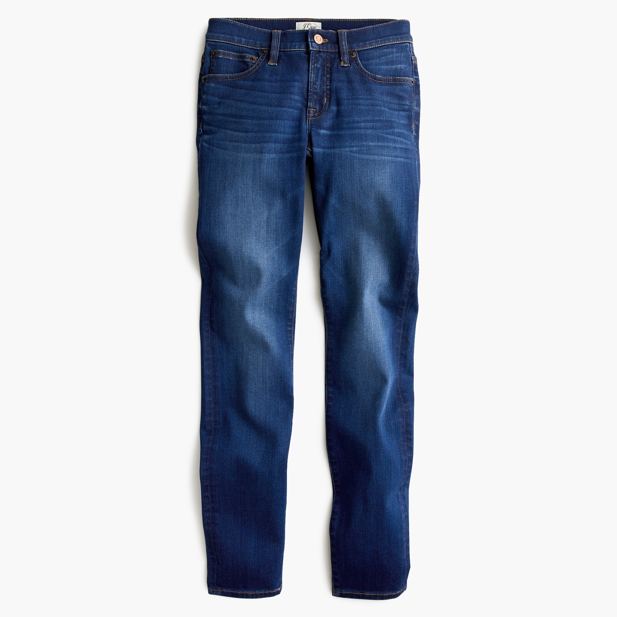 "Petite8"" toothpick jean in medium wash"