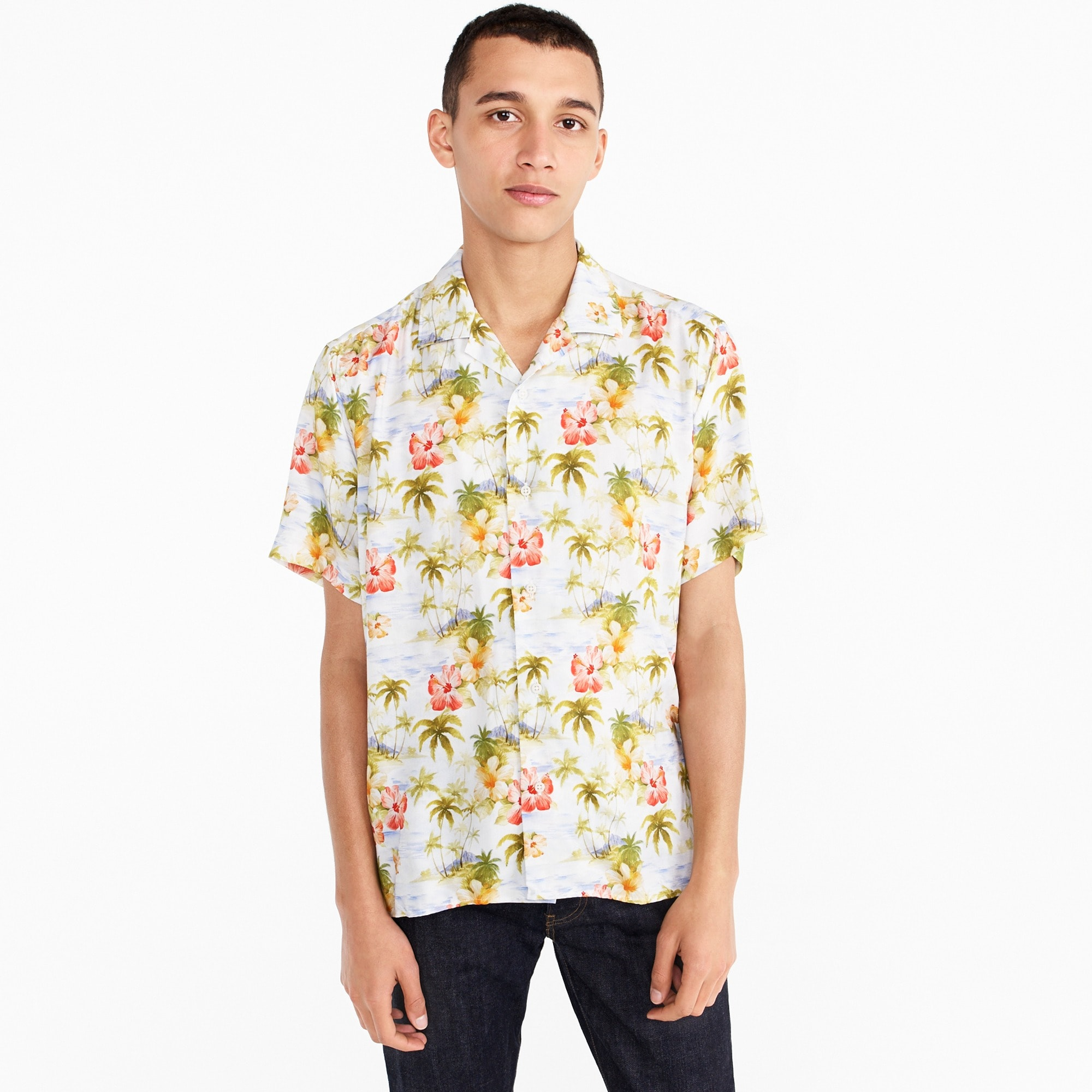 Gitman Vintage™ for J.Crew short-sleeve shirt in floral print men j.crew in good company c