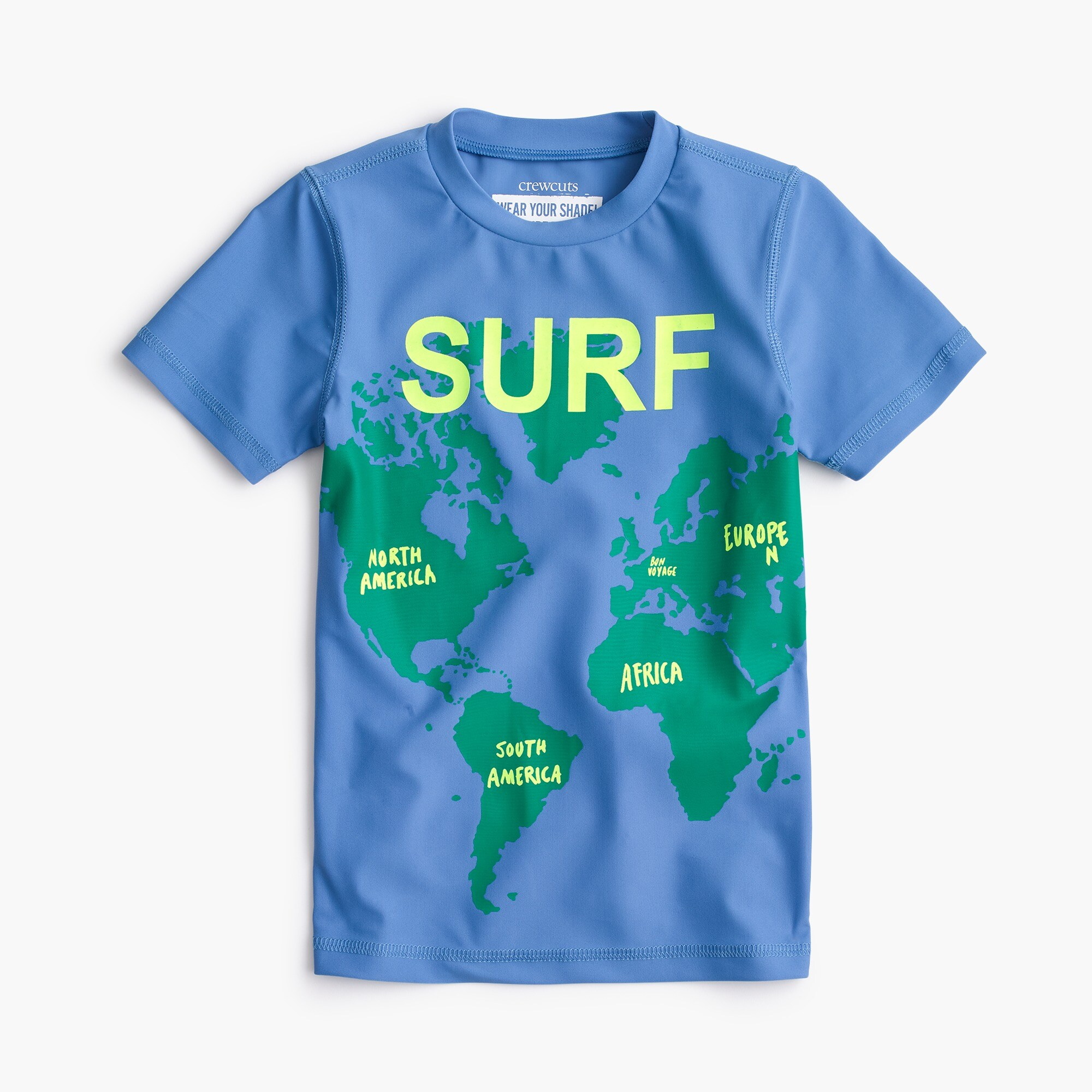 boys' surf the world short-sleeve rash guard - boys' swimwear