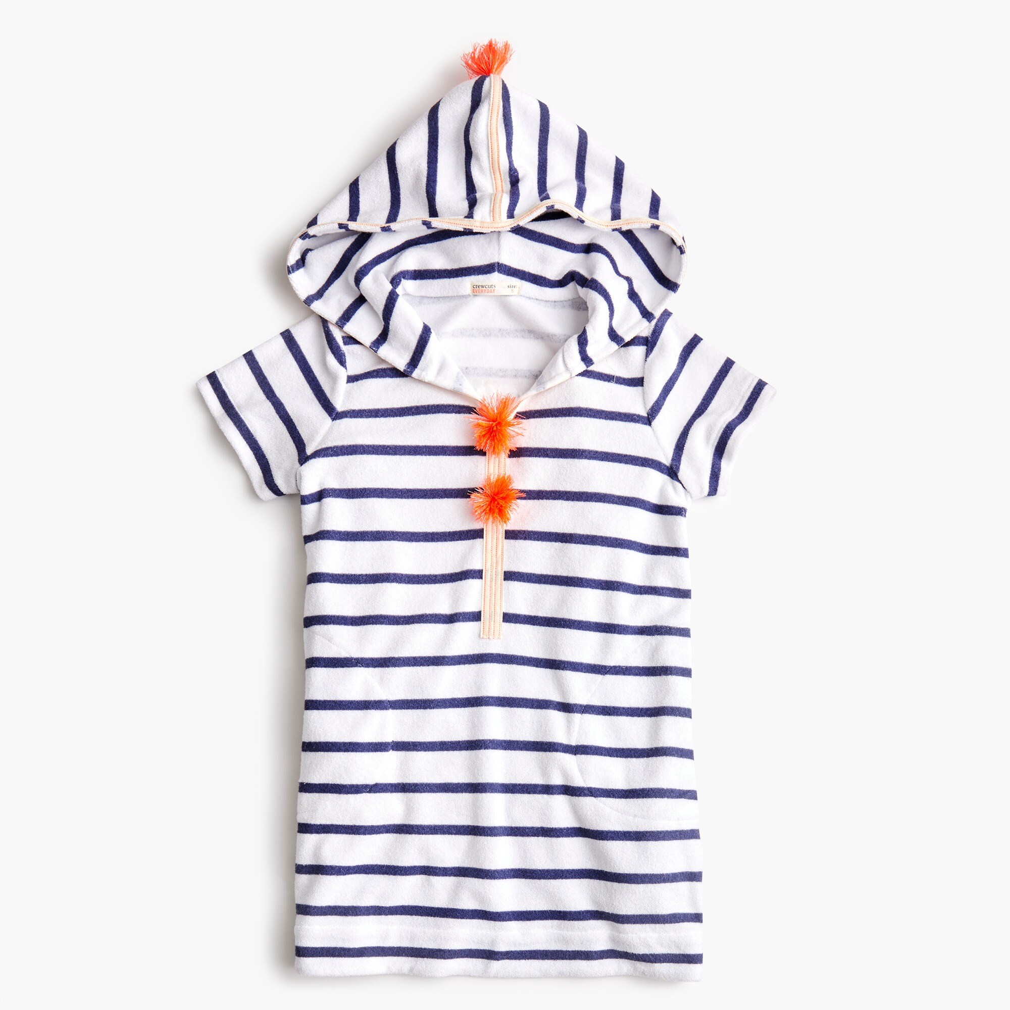 girls Girls' striped terry hoodie dress