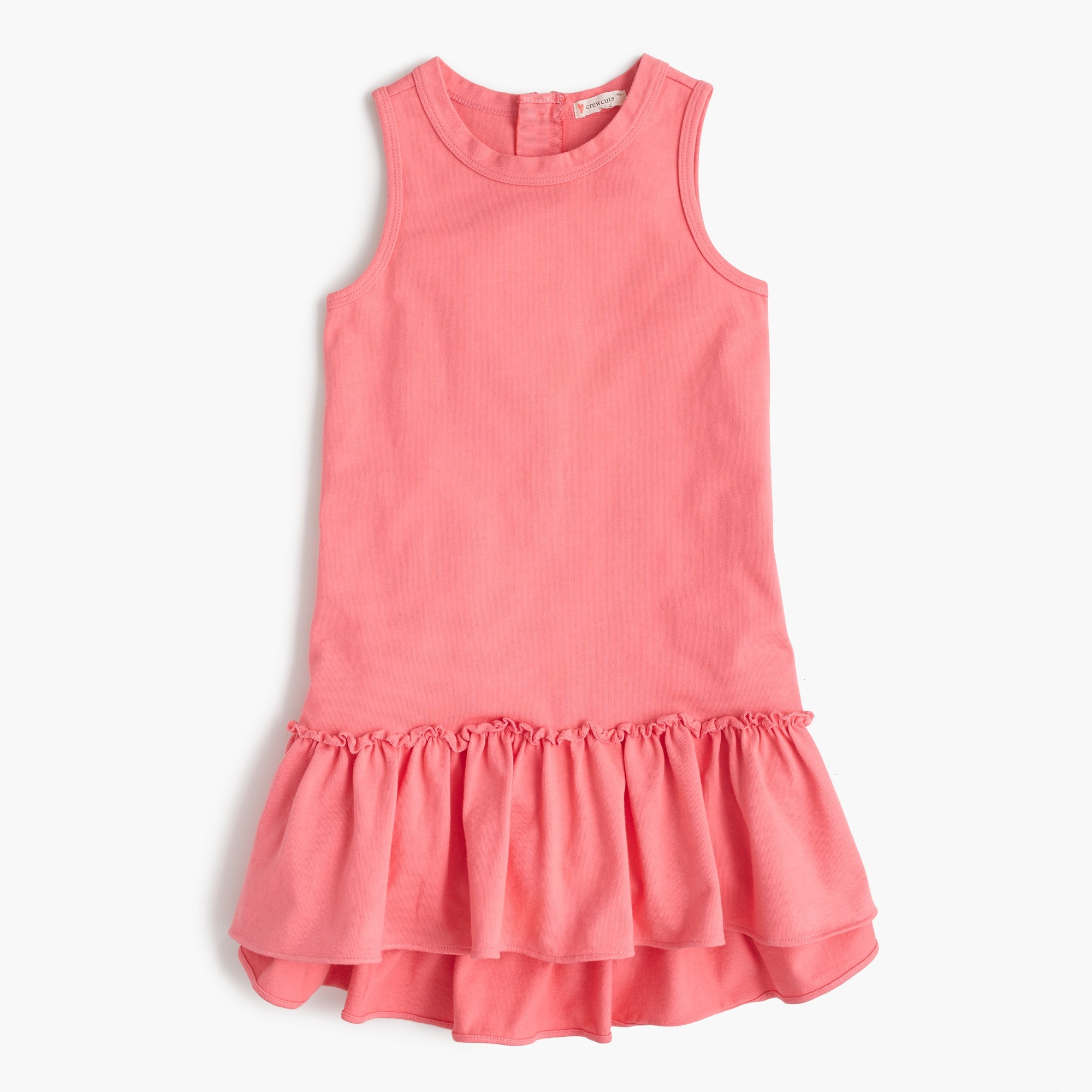 Girls' ruffle-hem dress girl new arrivals c