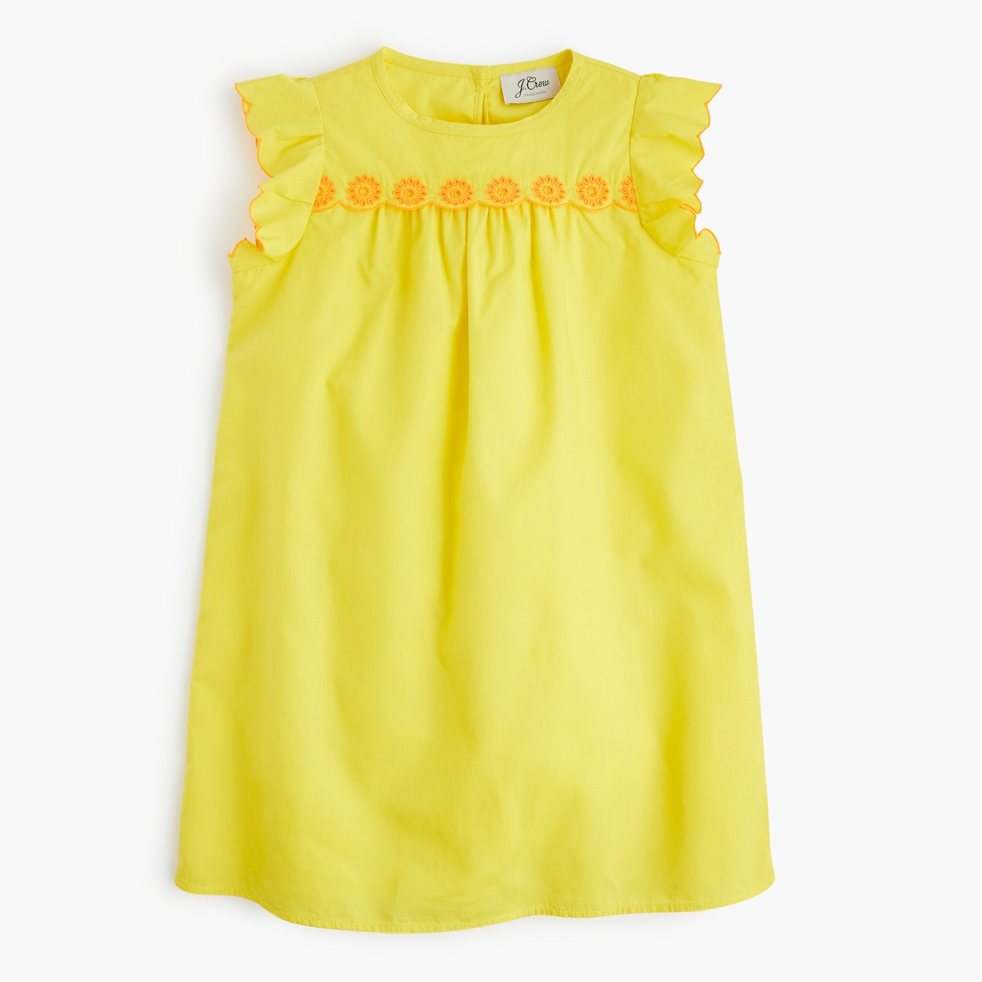 Girls' scallop-trimmed dress girl new arrivals c