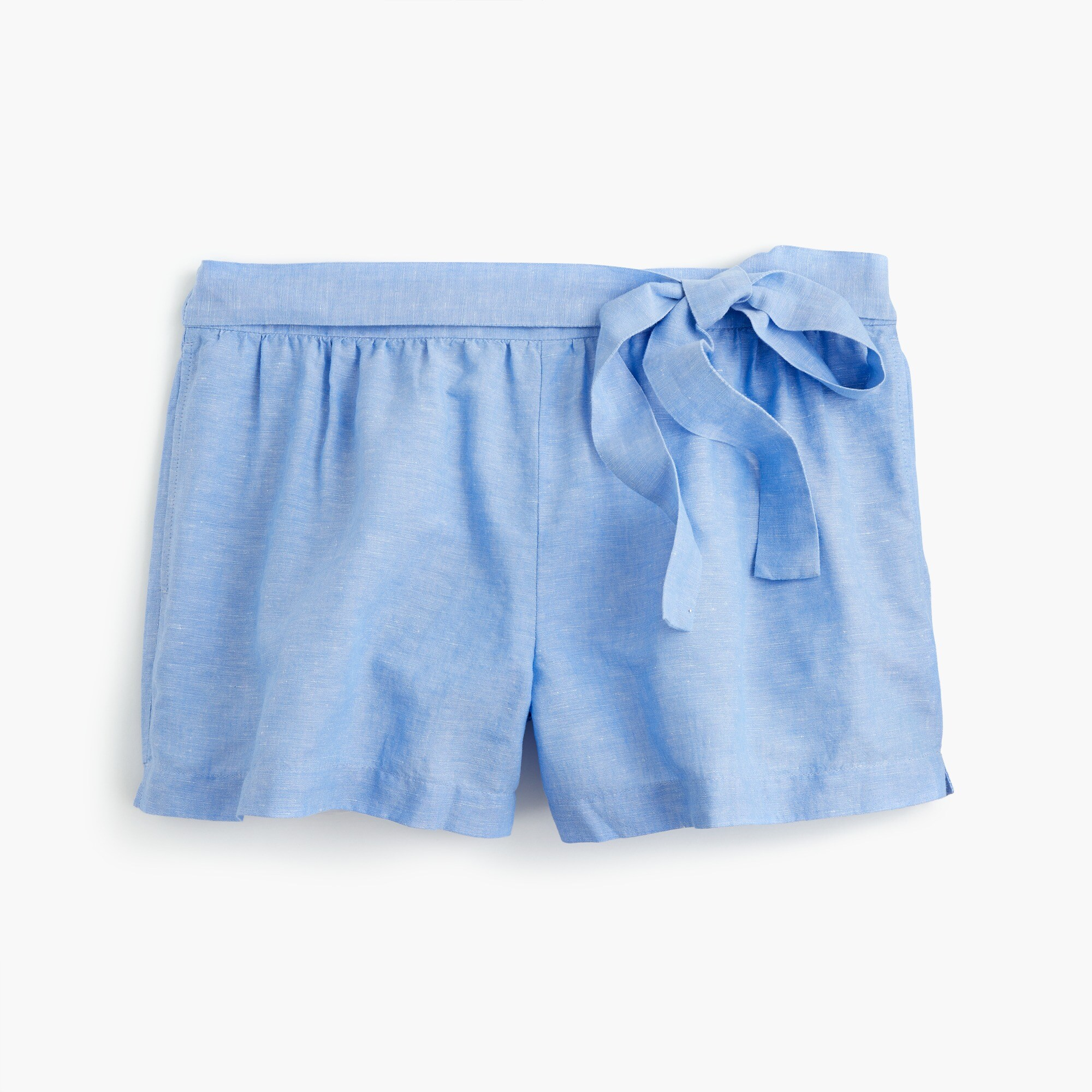 Image 1 for Linen short with side tie