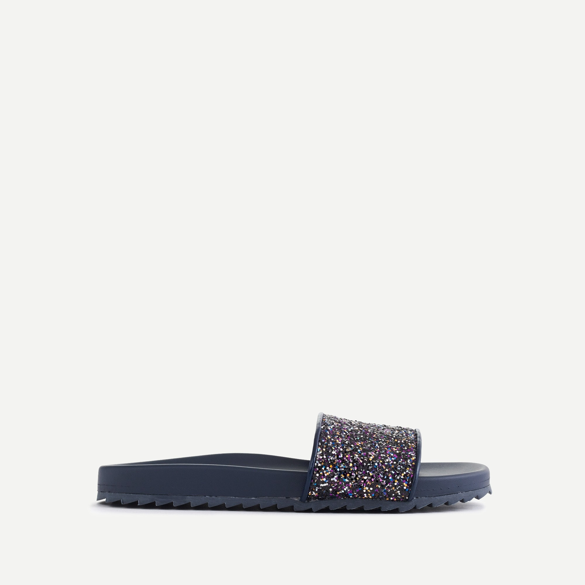 Girls' glitter slip-on sandals