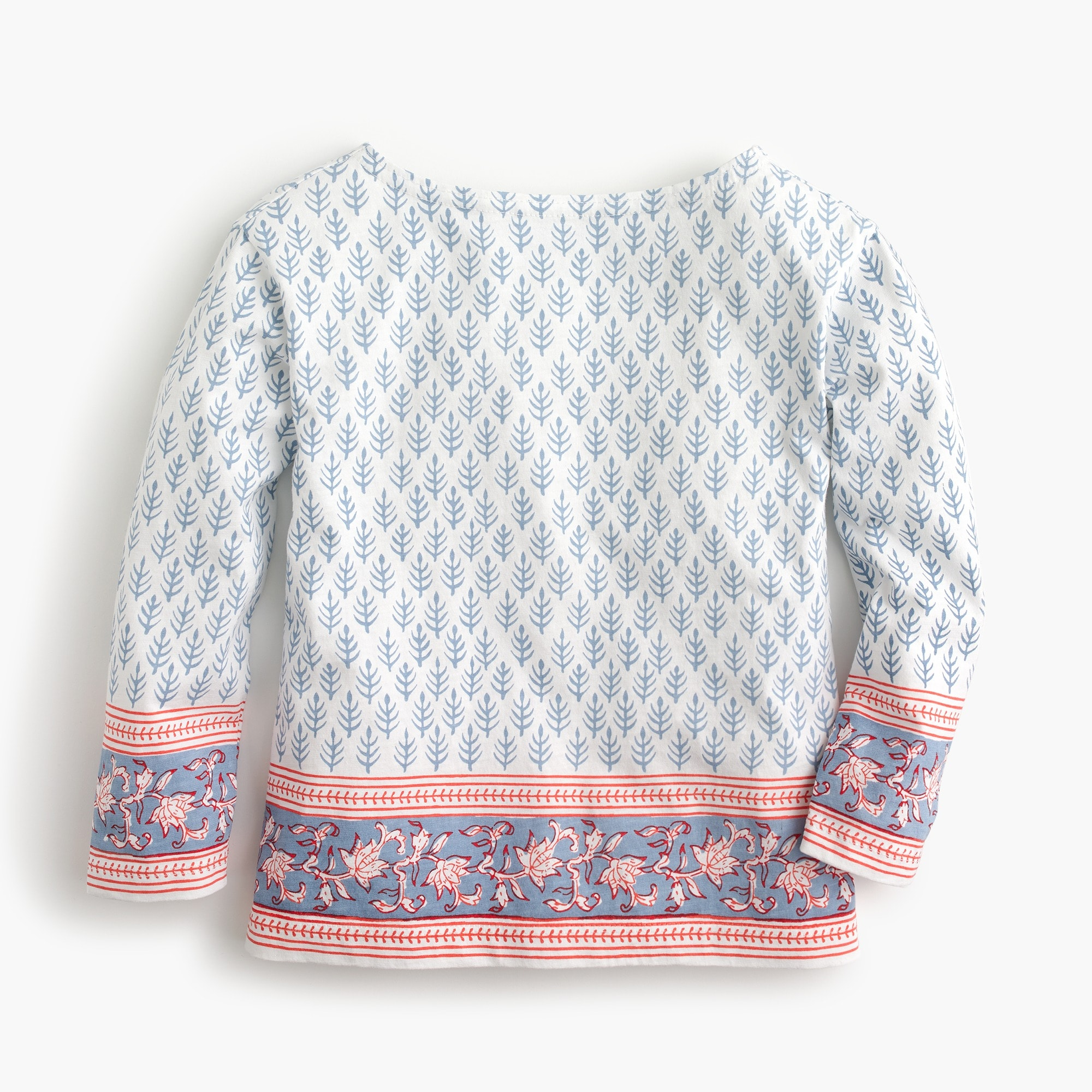 girls' sz blockprints for crewcuts leaf-print top