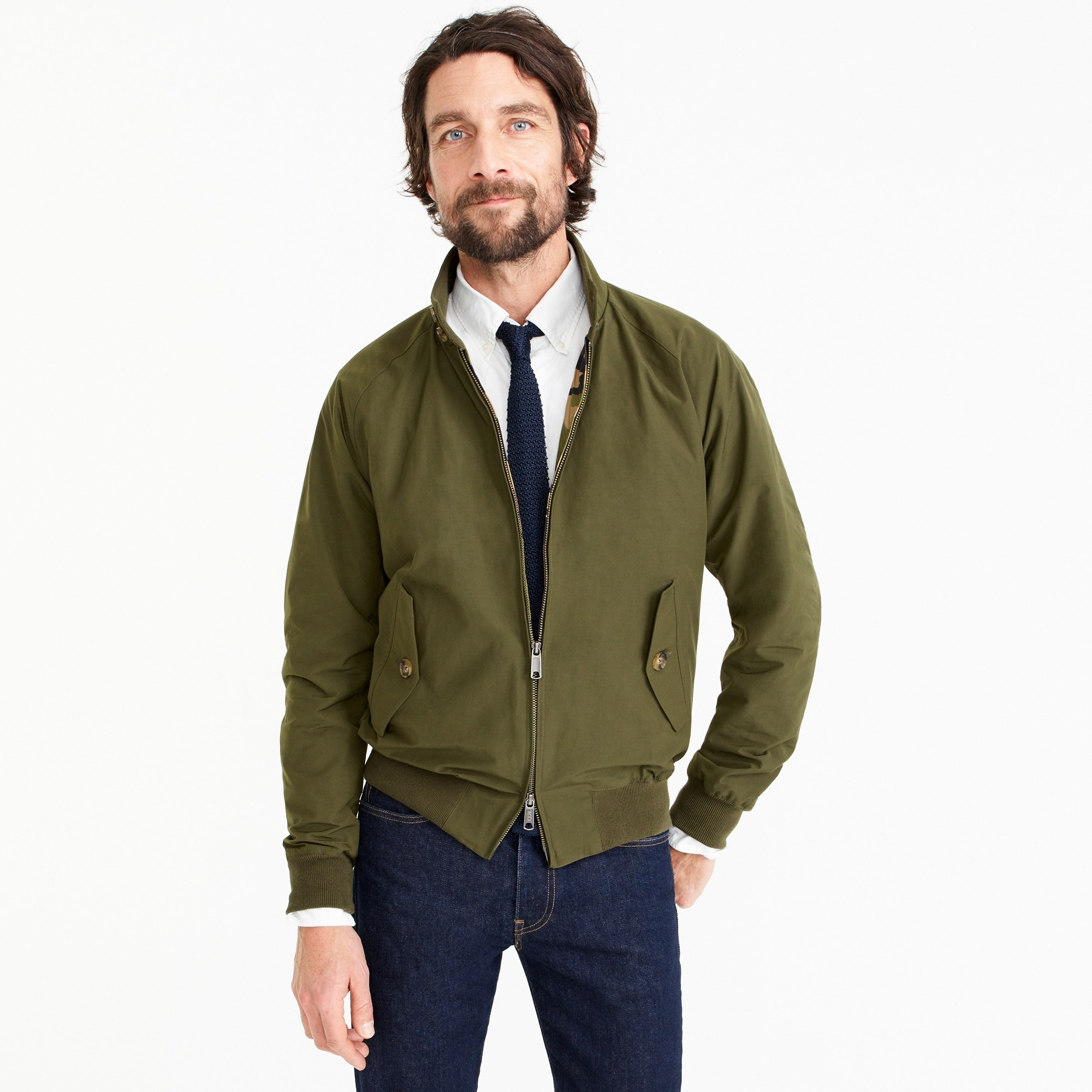 mens Baracuta® for J.Crew G9 Harrington jacket in olive