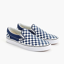 Vans® slip-on sneakers in blue checkerboard