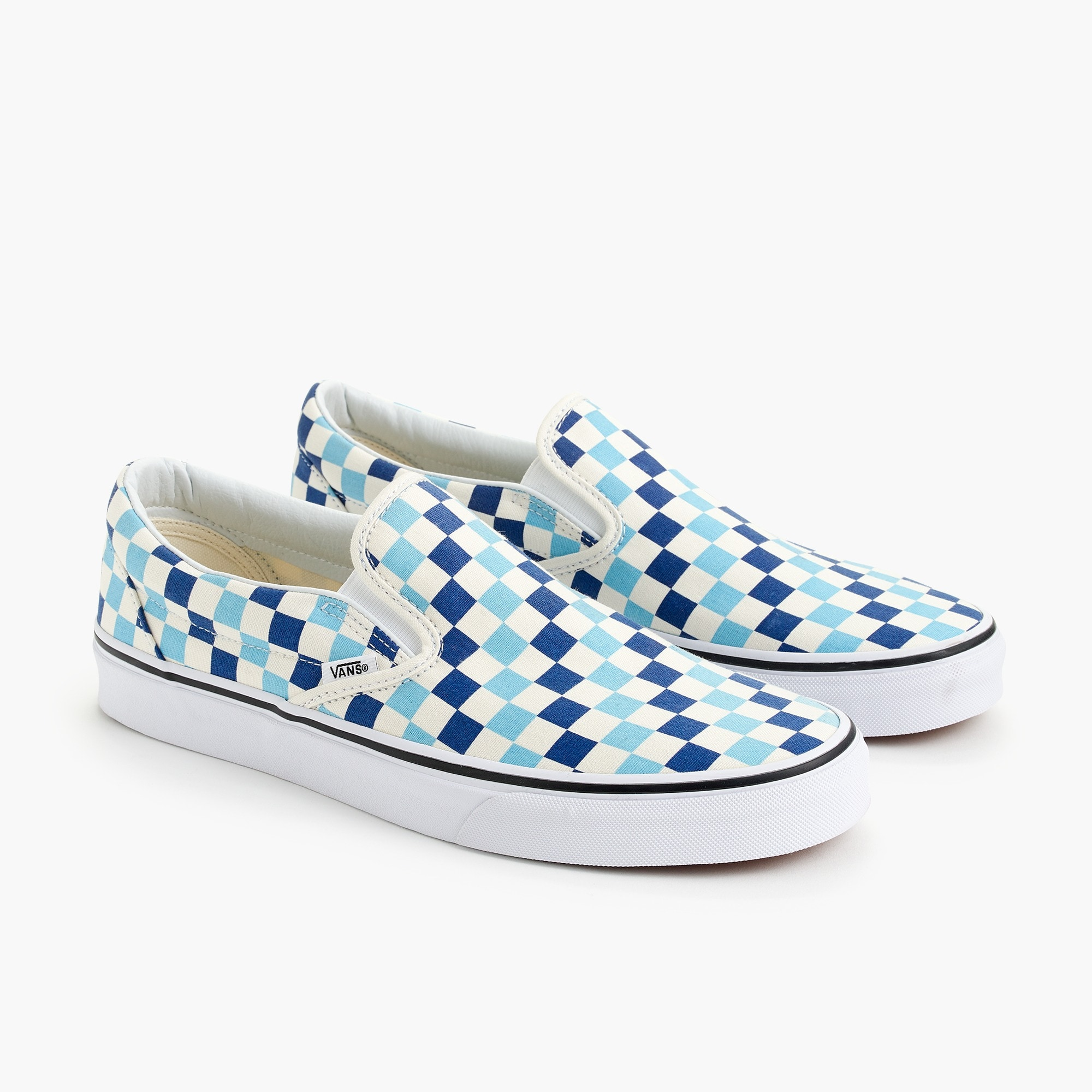 Image 2 for Vans® slip-on sneakers in blue checkerboard