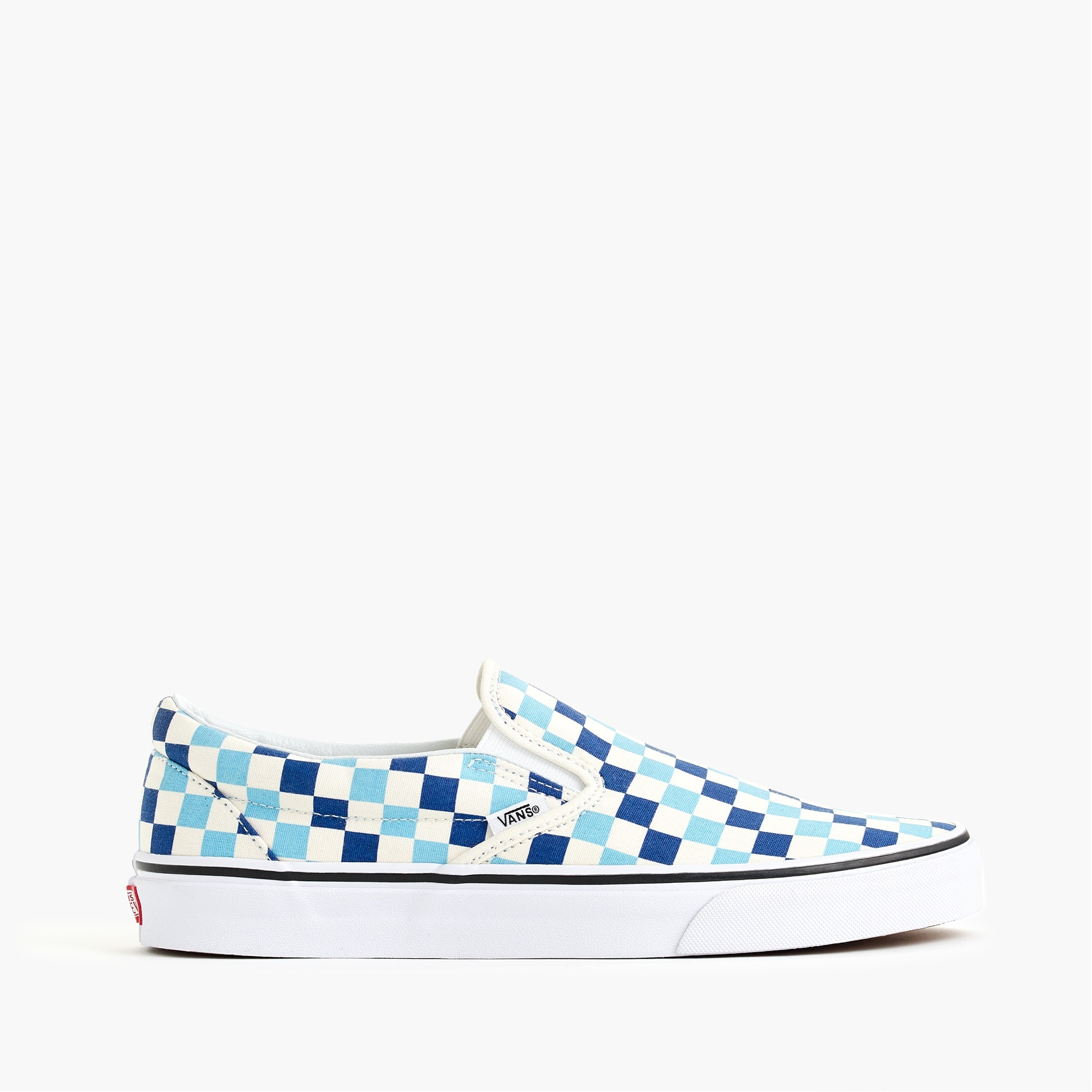 Image 1 for Vans® slip-on sneakers in blue checkerboard
