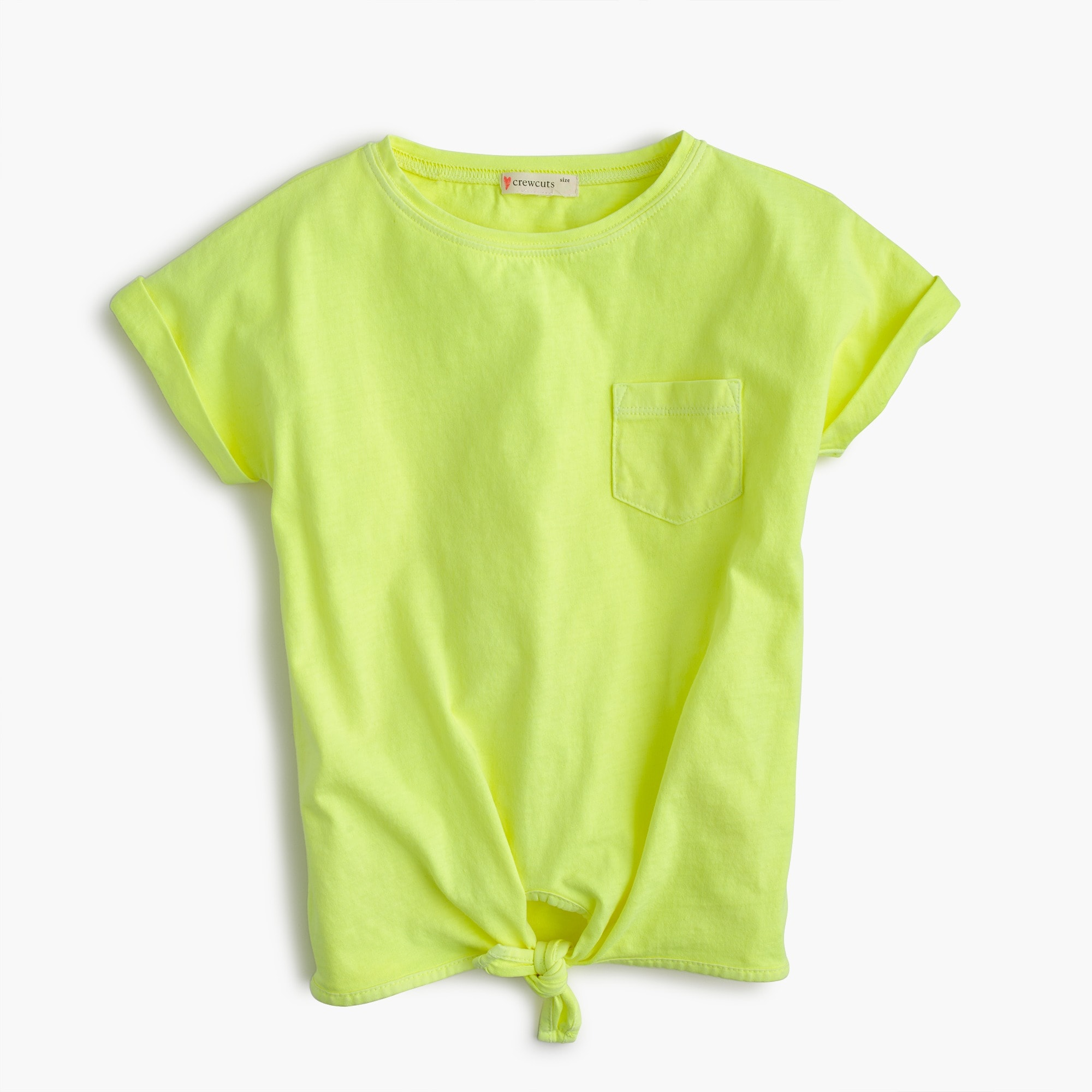 Girls' tie-front T-shirt girl new arrivals c