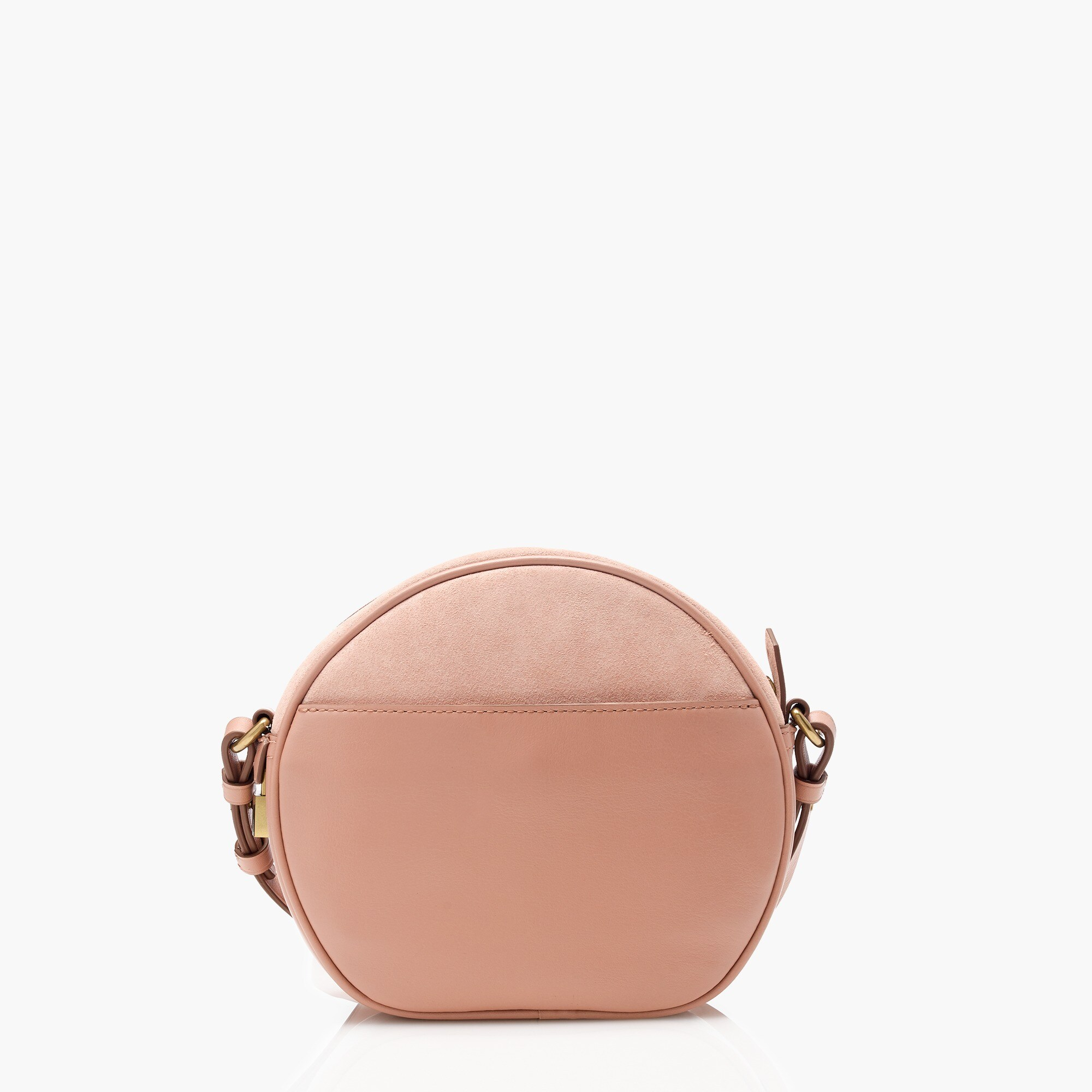 Signet circle bag in suede