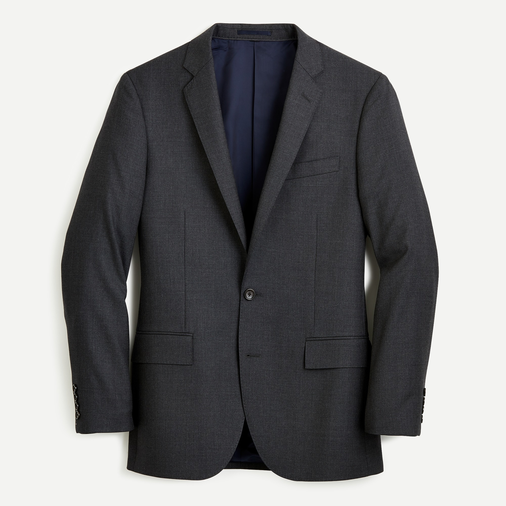 Image 2 for Ludlow Slim-fit suit jacket with double vent in charcoal American Wool