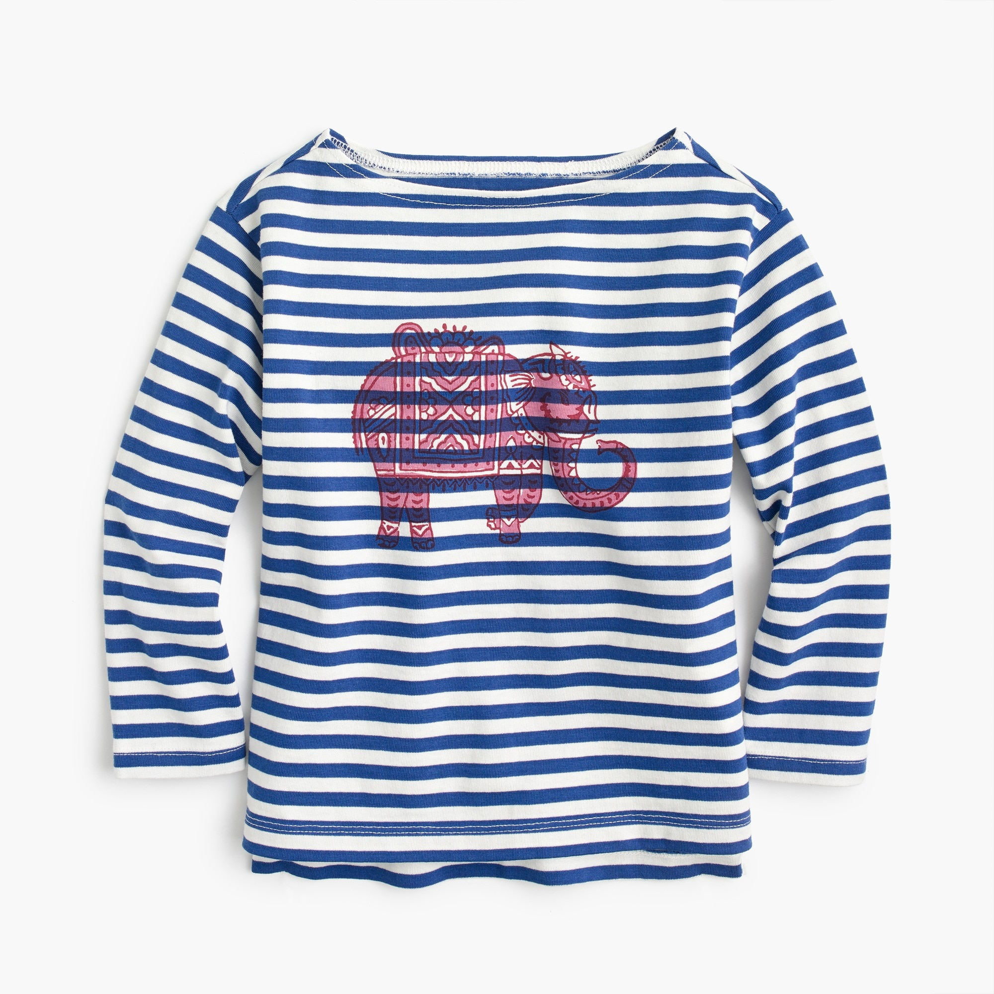 Girls' SZ Blockprints™ for crewcuts elephant-print T-shirt girl new arrivals c