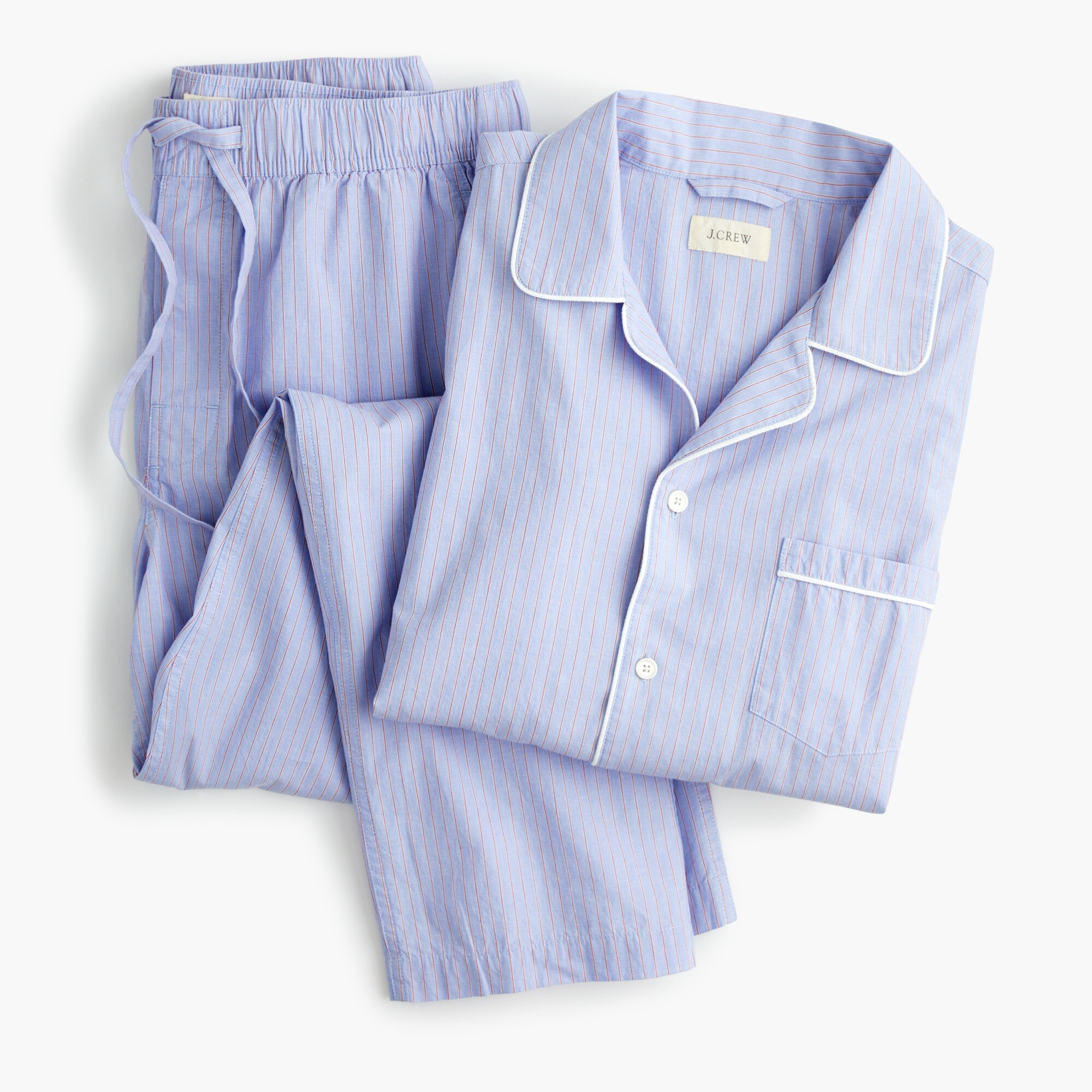 Pajama set in cotton poplin