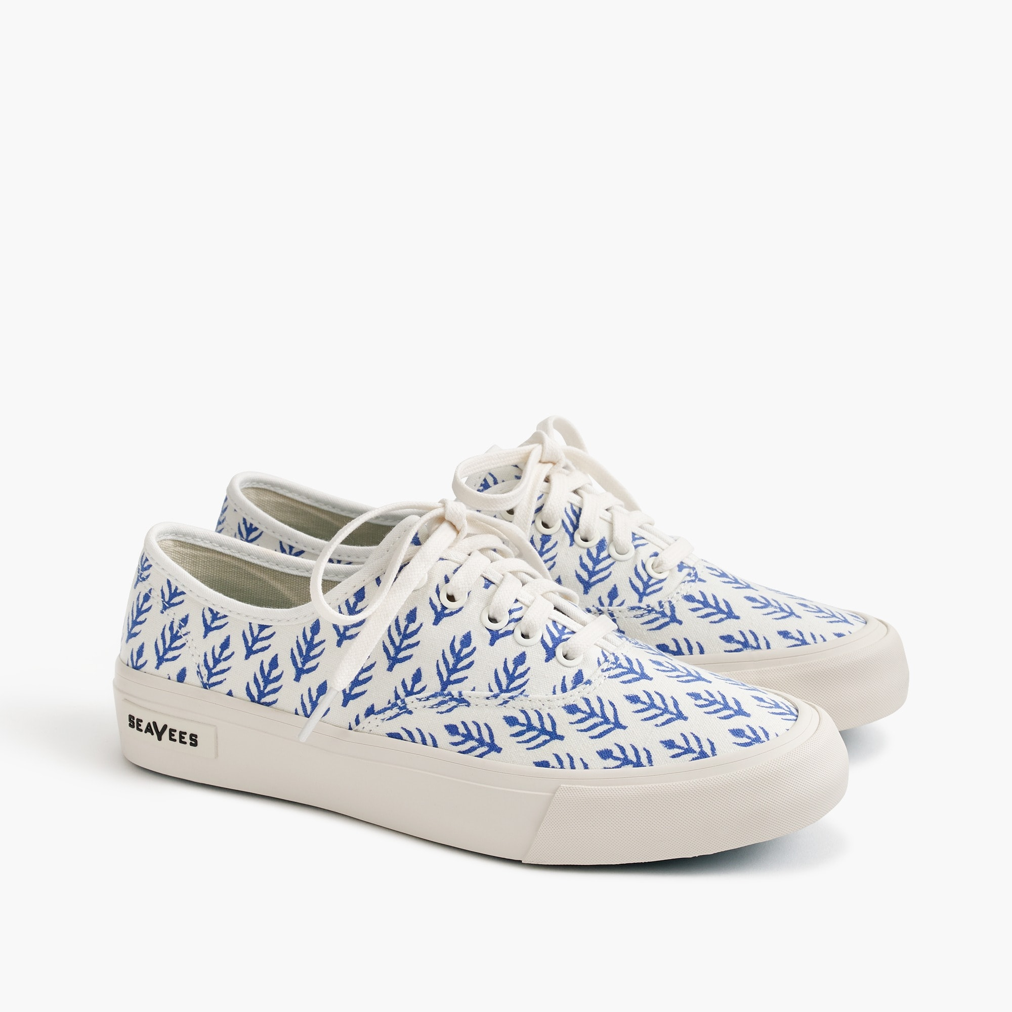 womens SeaVees® for J.Crew Legend sneakers in SZ Blockprints™ blue leaves