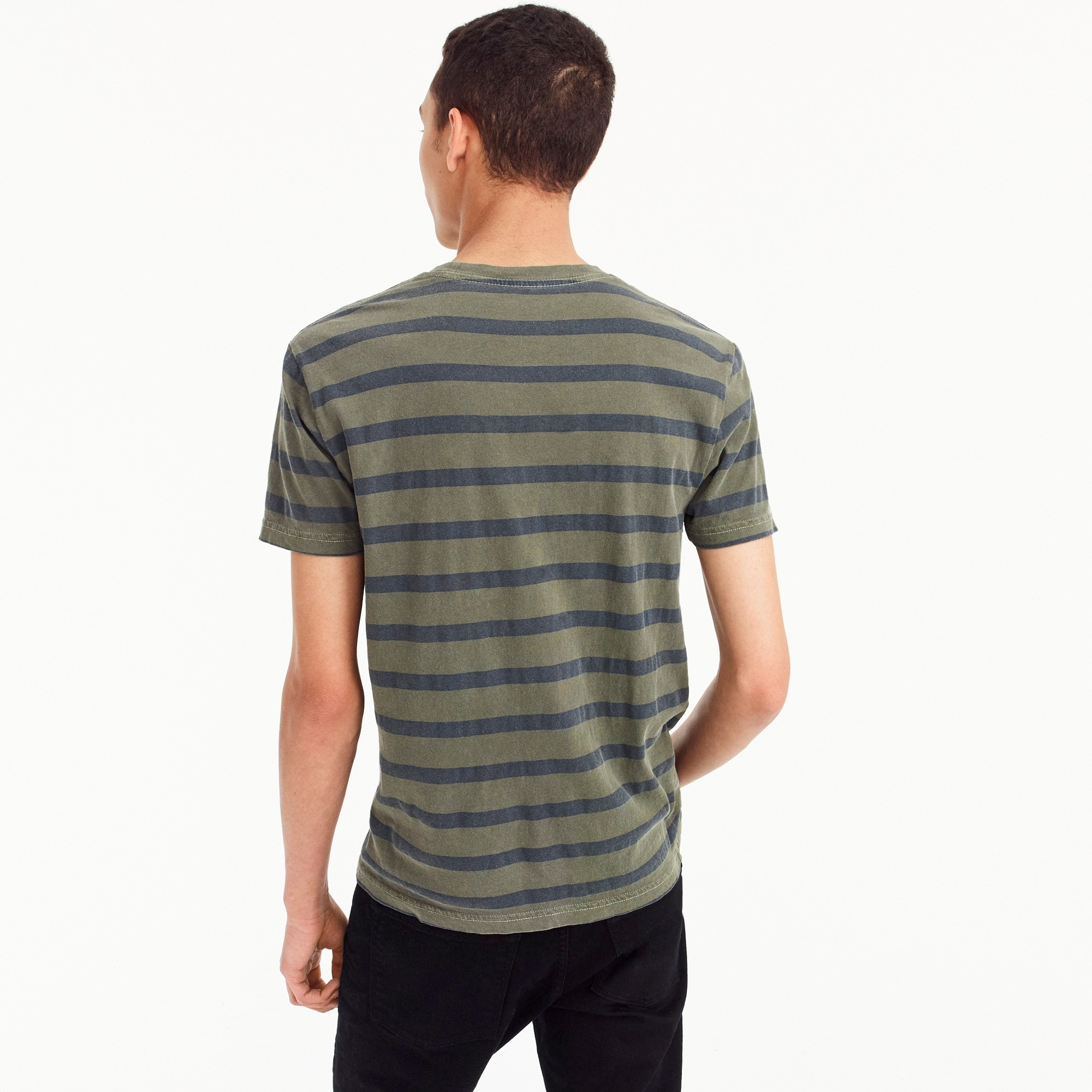 Image 3 for Garment-dyed T-shirt in harbor stripe
