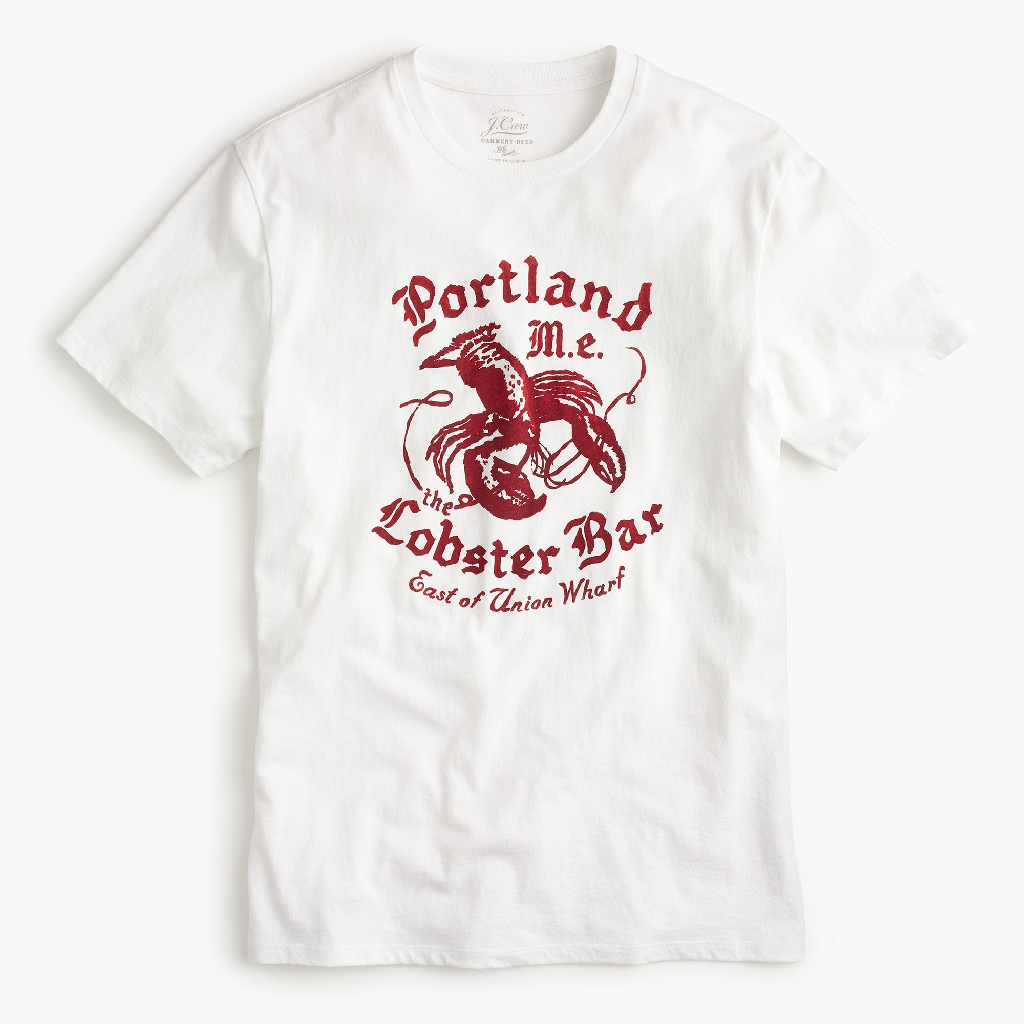 Portland Lobster Bar graphic T-Shirt men new arrivals c