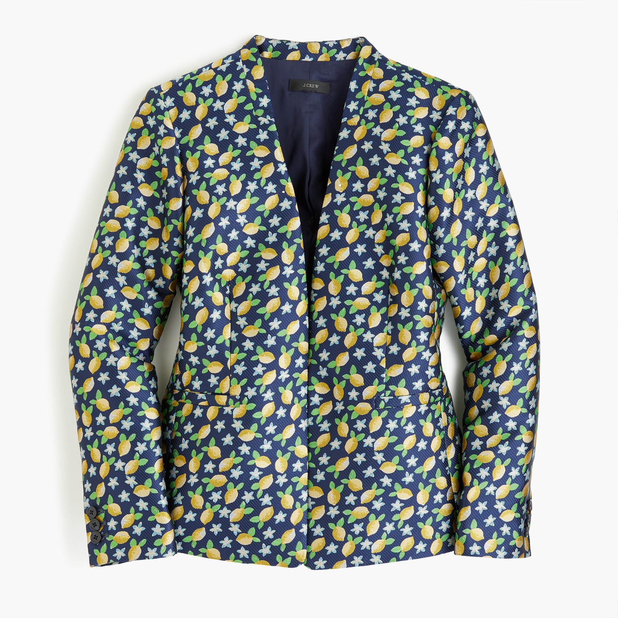 Image 4 for Going-out blazer in lemon jacquard
