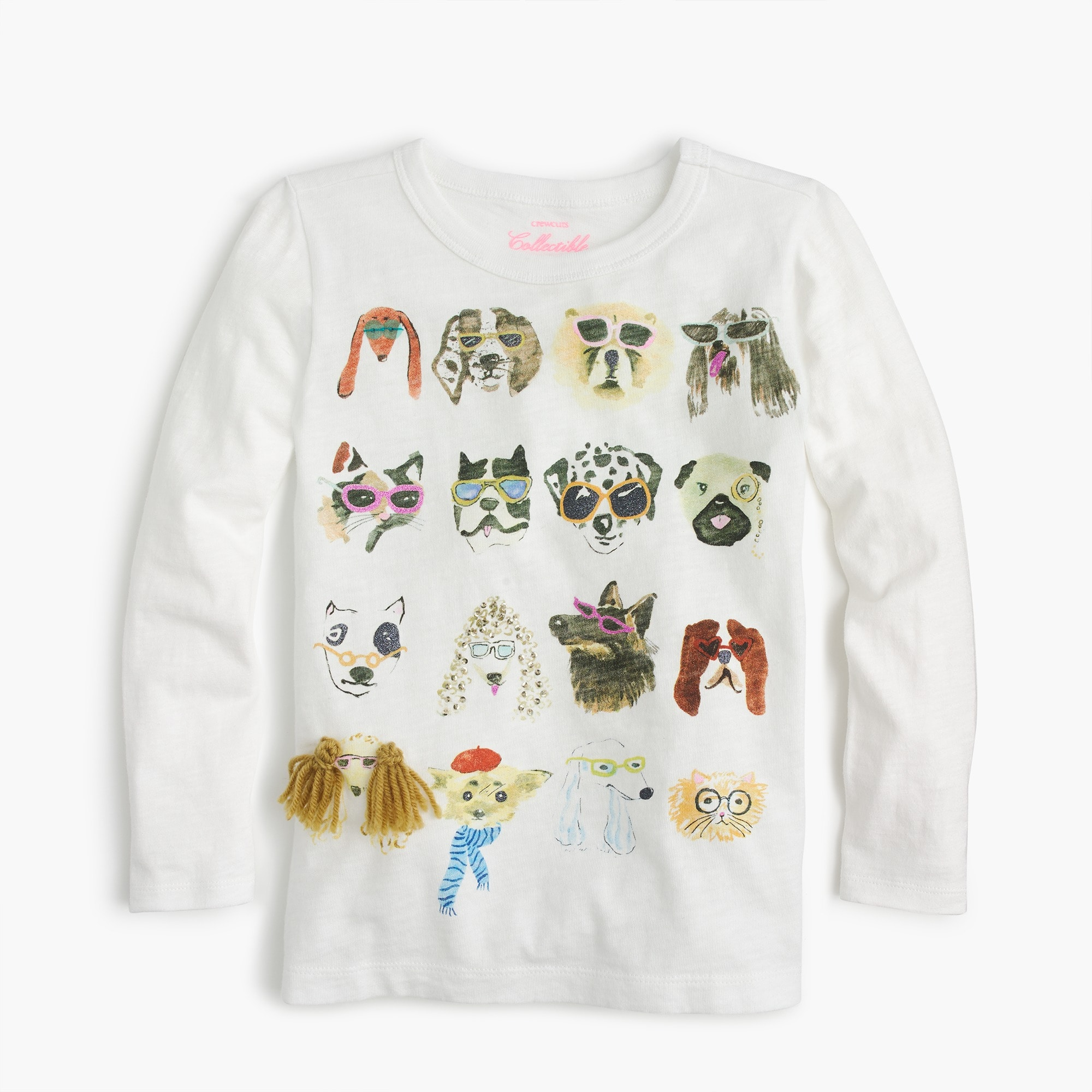 Girl's dogs in specs T-shirt girl graphics shop c