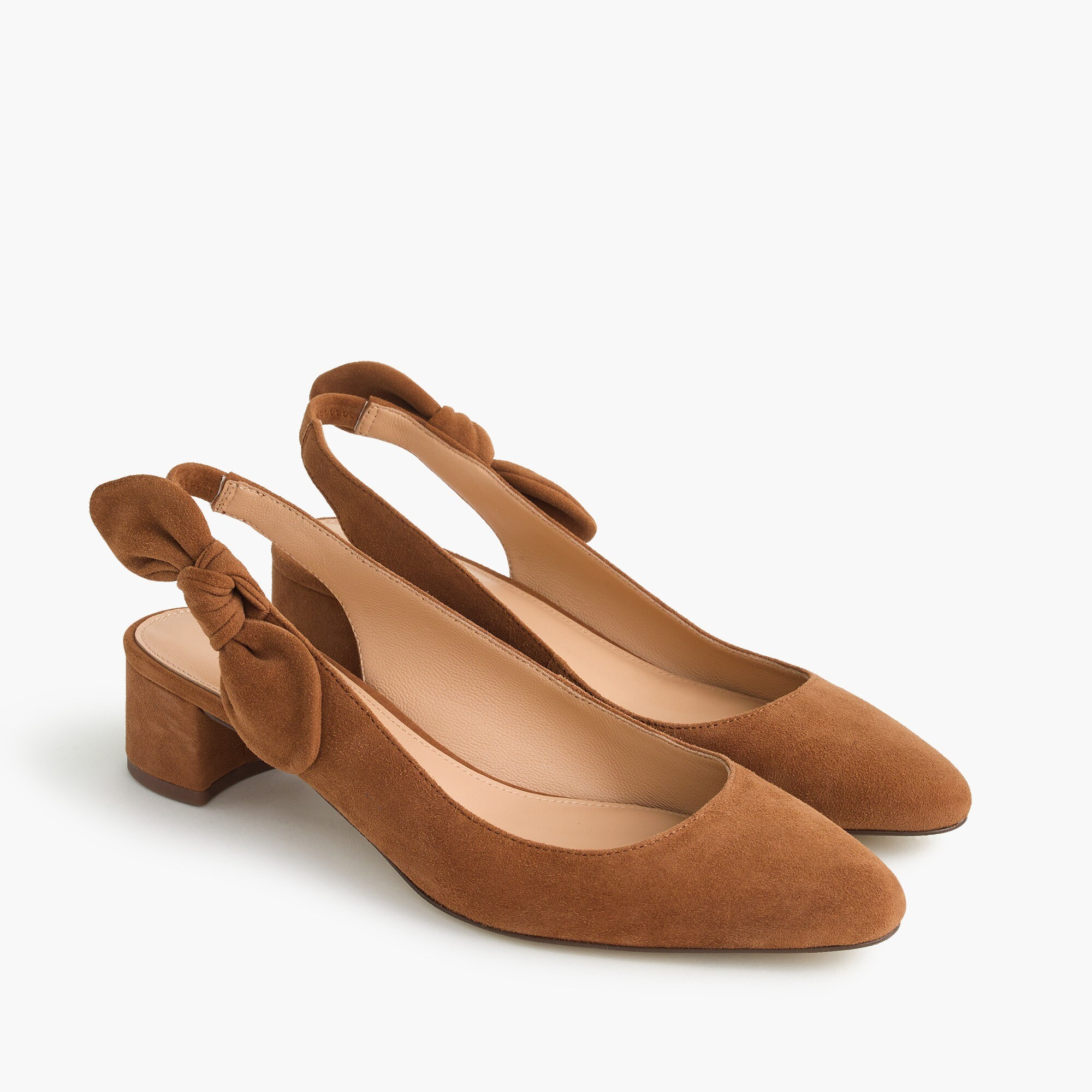 women's slingback bow pumps (40mm) in suede - women's heels