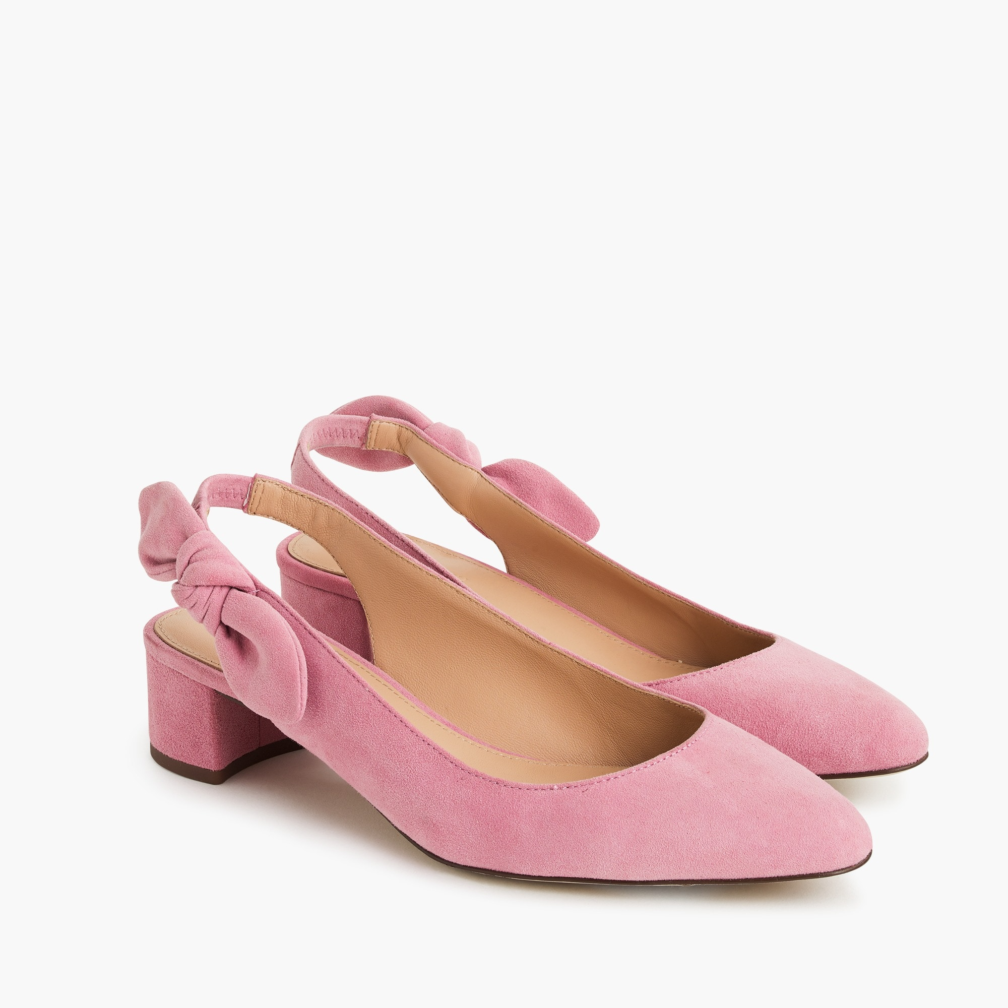 womens Slingback bow pumps (40mm) in suede