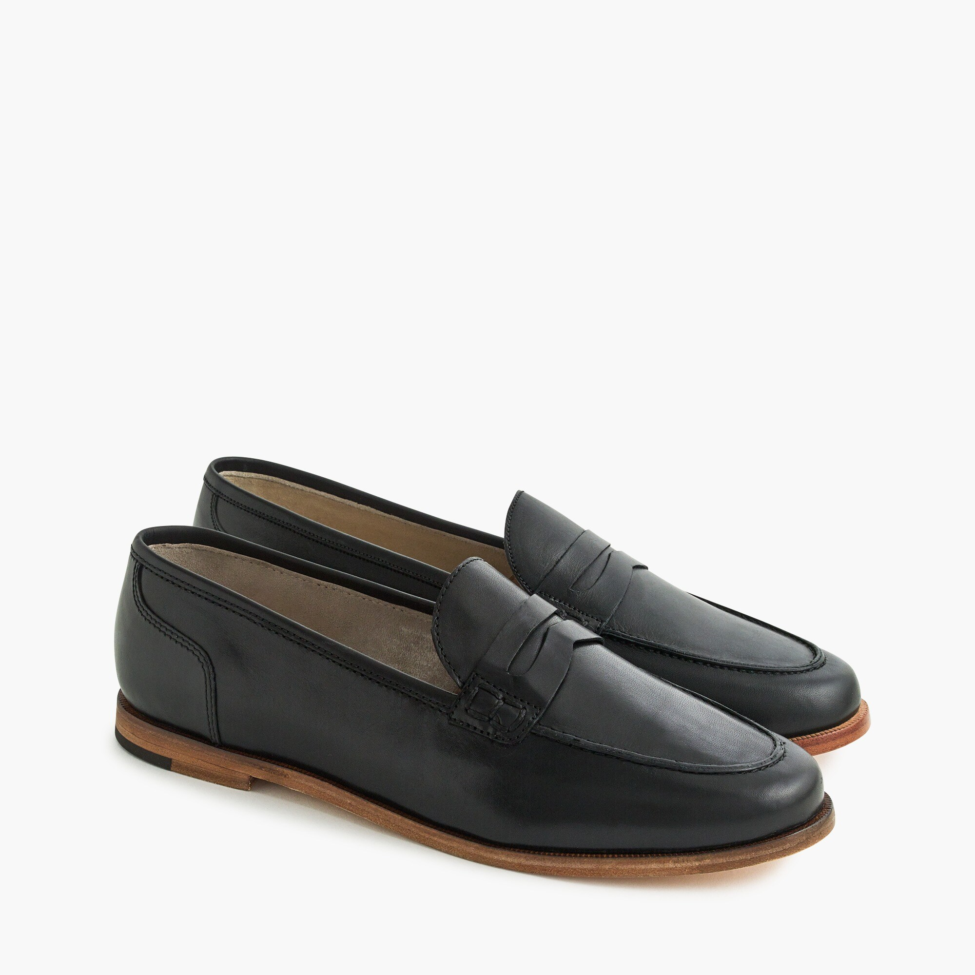 Ryan penny loafers in leather women shoes c