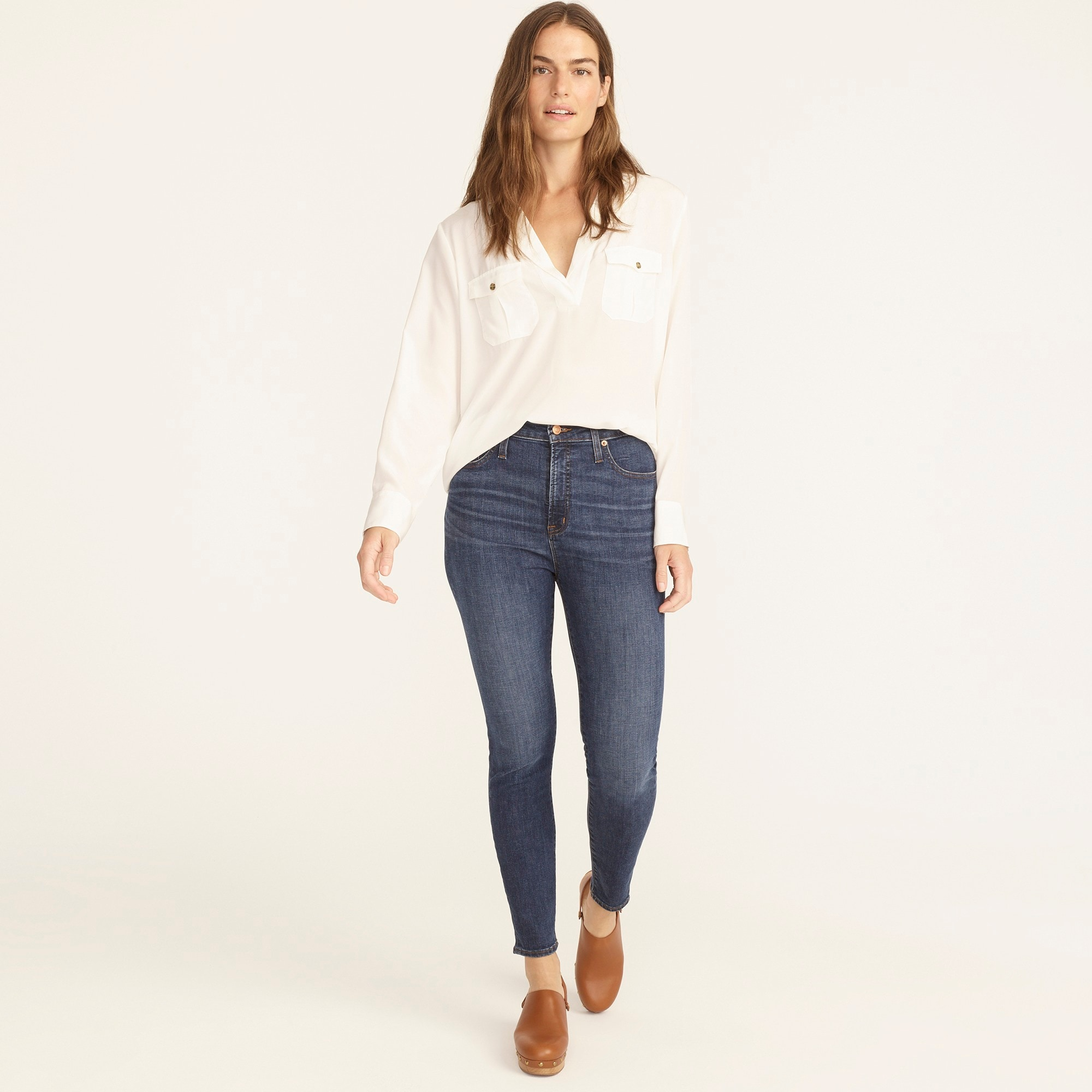 Petite curvy toothpick jean in Dryden wash women tall c