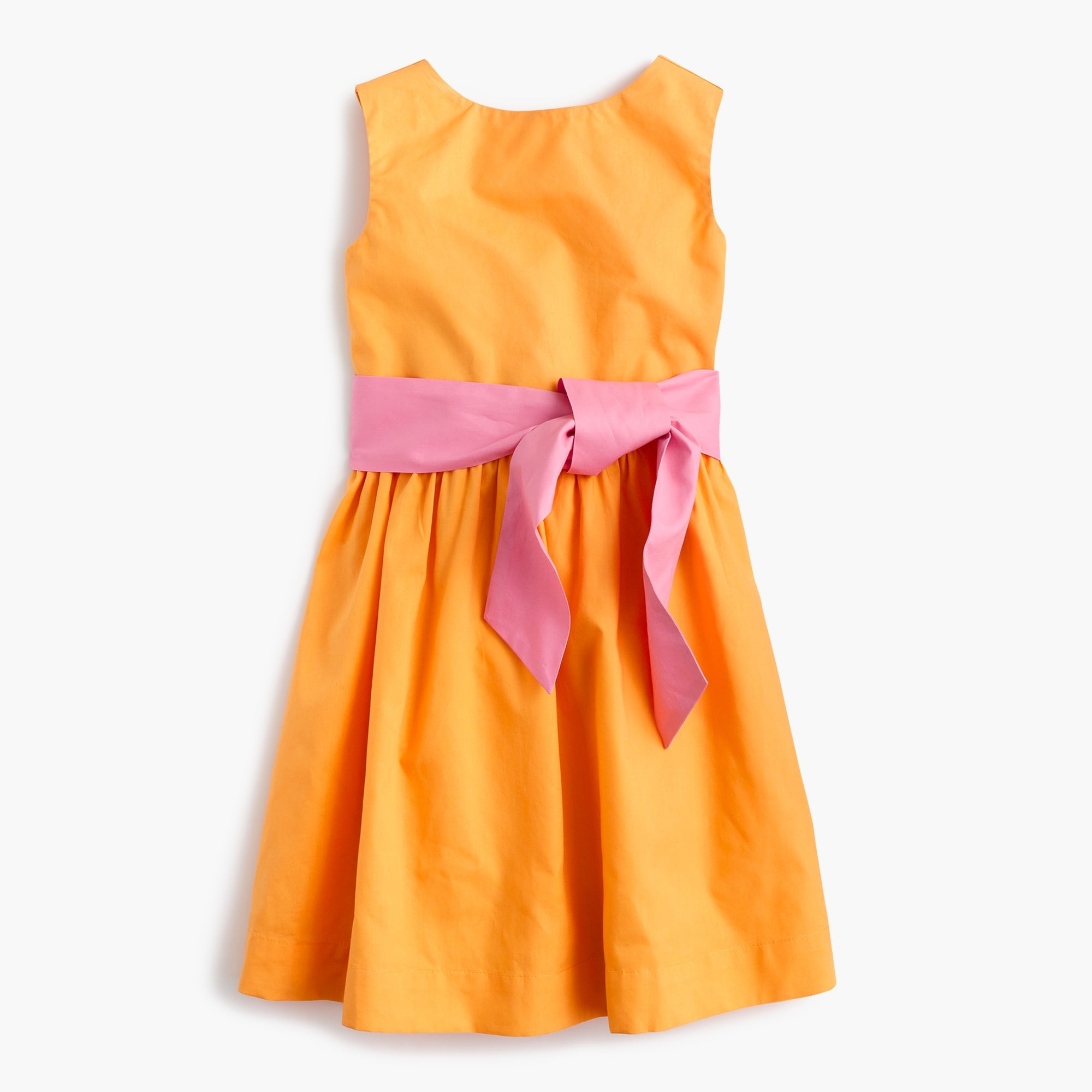 Girls' colorblock dress with ties girl new arrivals c