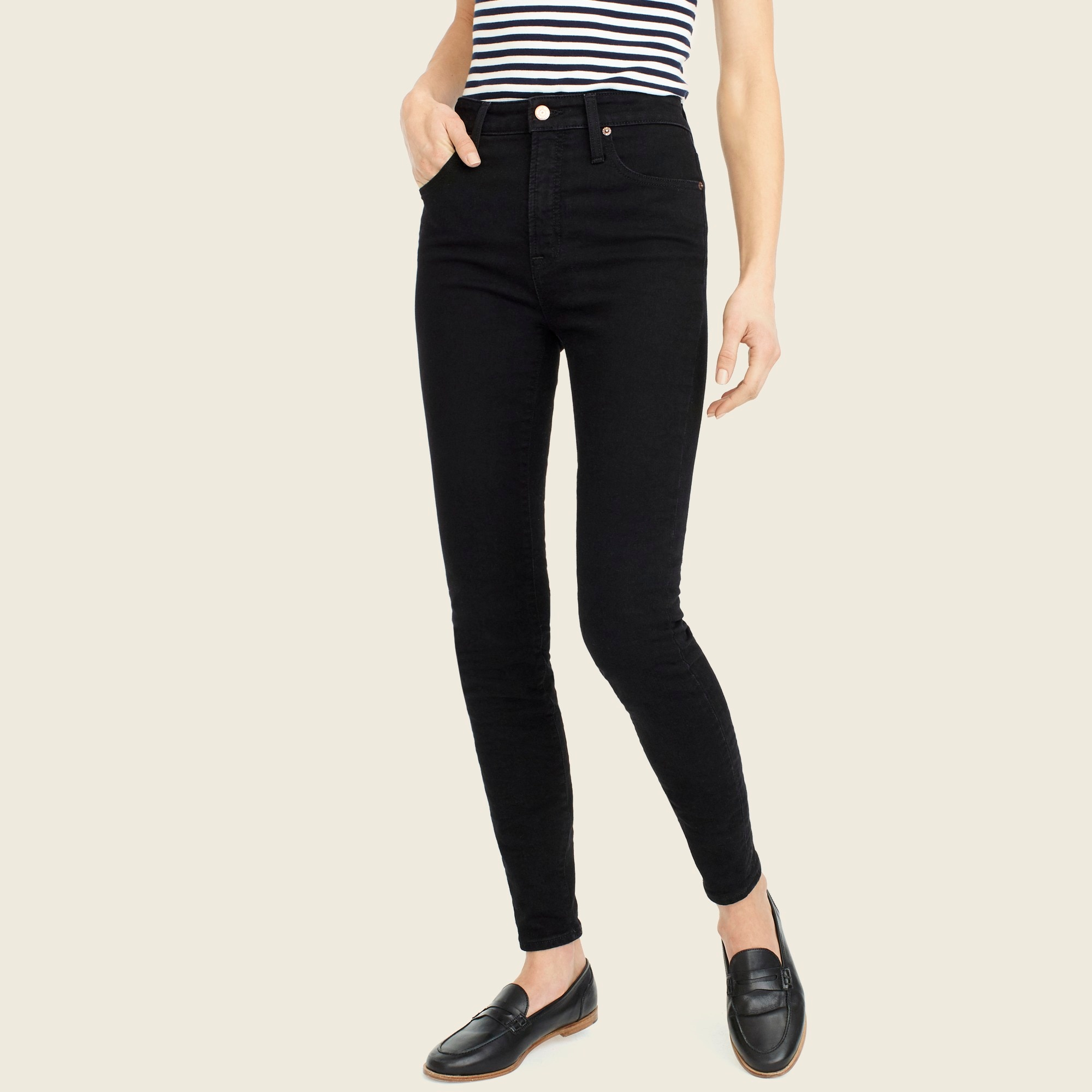 Tall curvy toothpick jean in true black women tall c