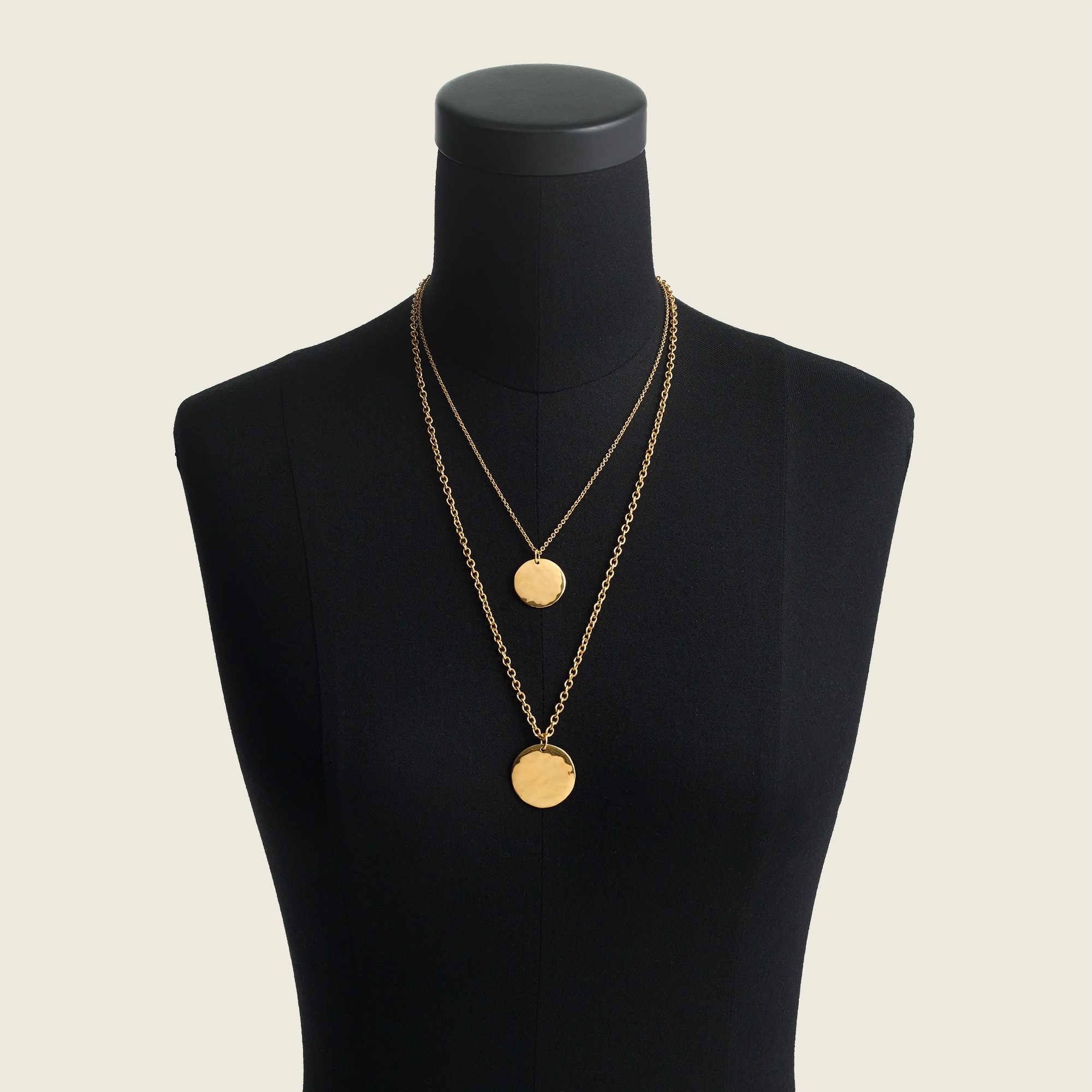 women's layered coin necklace - women's jewelry