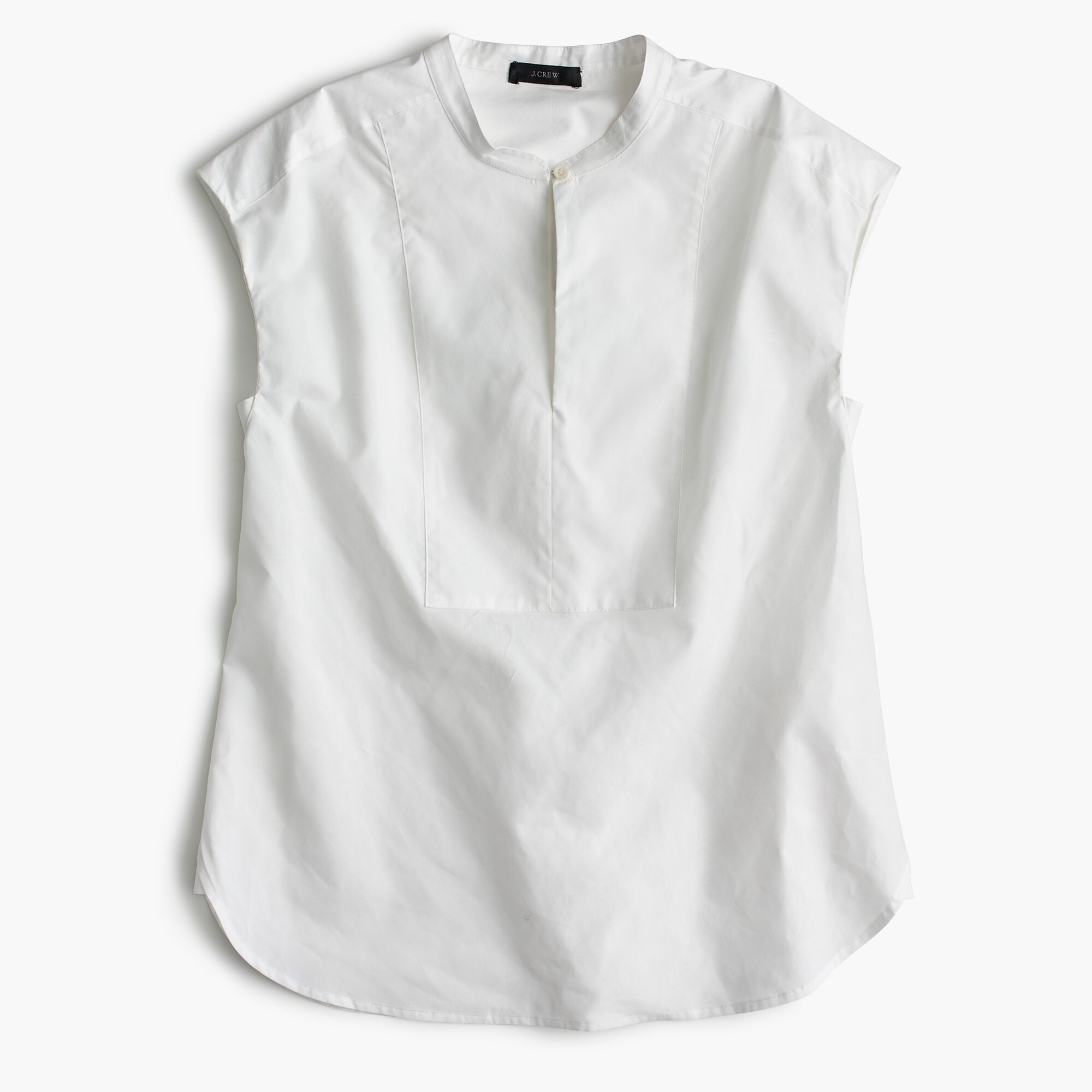 women's petite cap-sleeve top in cotton poplin - women's shirts
