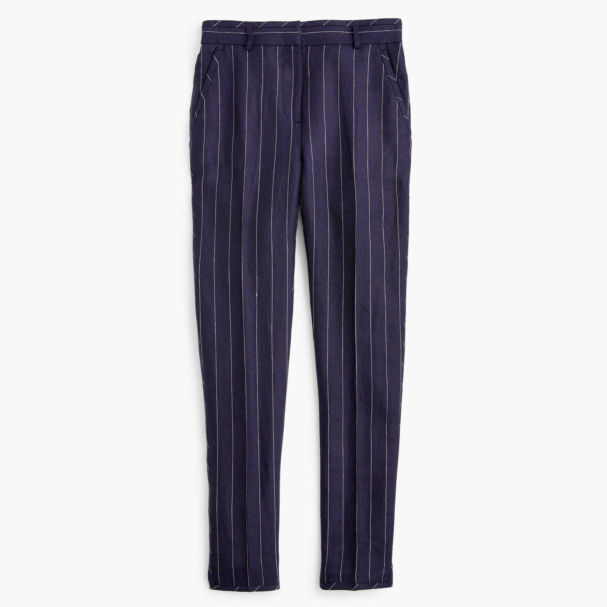 Image 2 for Tall easy pant in pinstriped linen