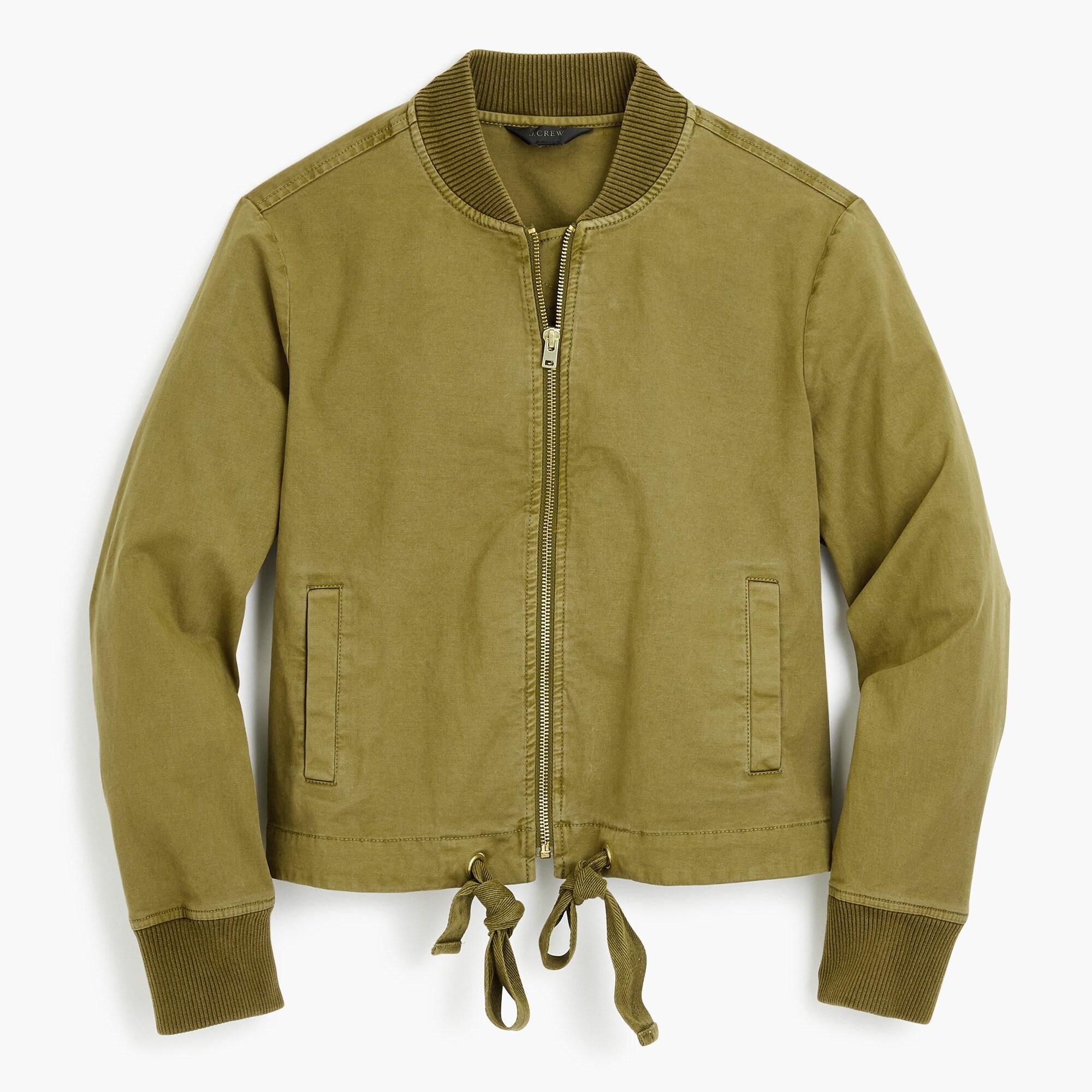 women's garment-dyed bomber jacket - women's blazers
